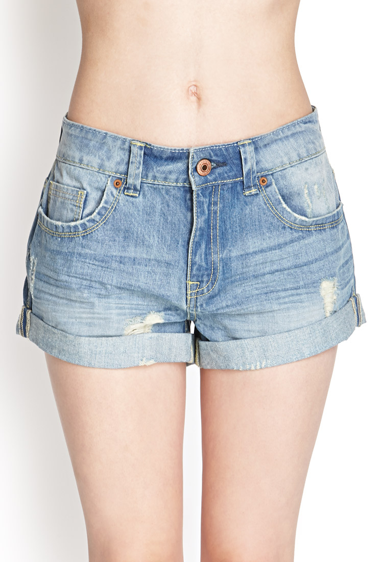 Forever 21 Distressed Cuffed Denim Shorts You've Been Added To The ...
