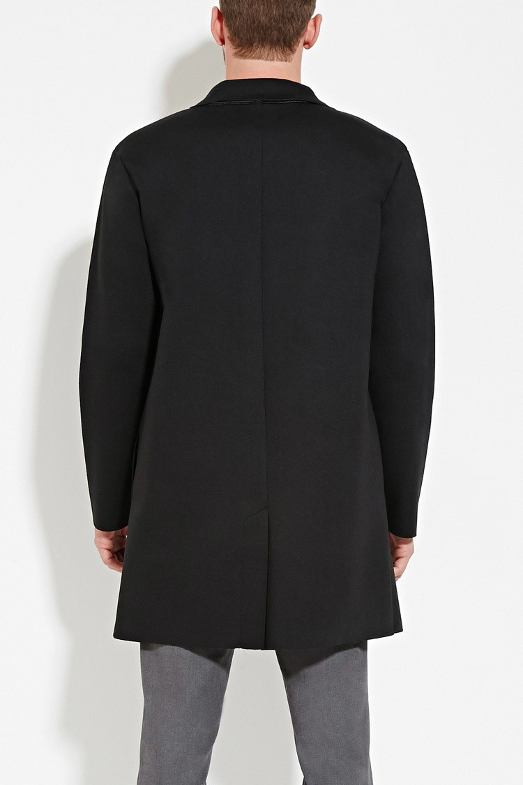 Forever 21 Open-front Jacket in Black for Men | Lyst