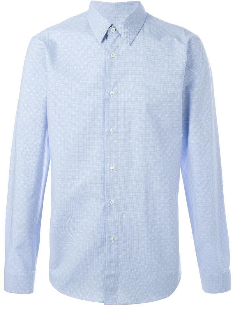 Jil sander small print shirt in blue for men save 30 lyst for Jil sander mens shirt