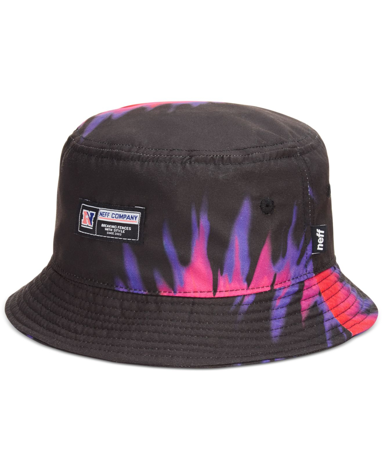 81abad5ec79 ... discount lyst neff tie dye bucket hat in black for men b3af0 cac00
