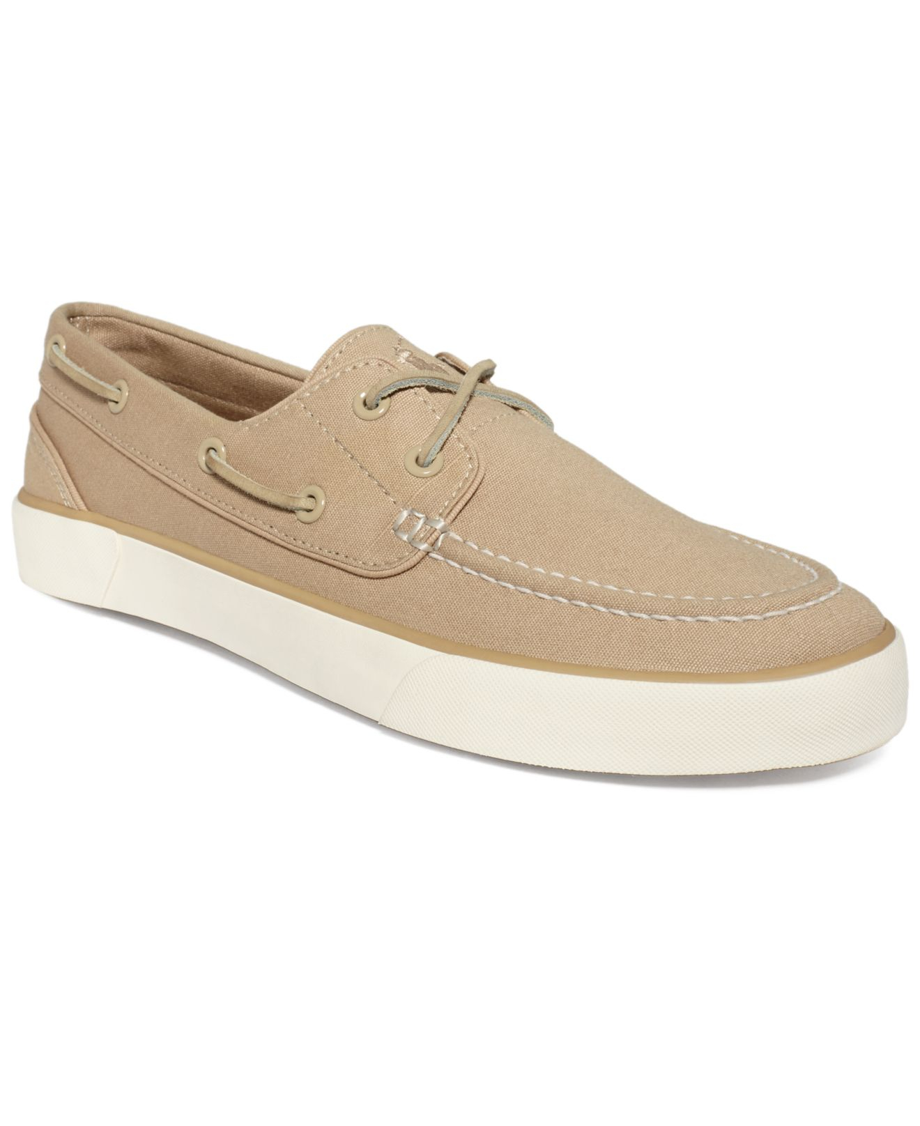 Lyst - Polo Ralph Lauren Sander P Boat Shoes in Natural for Men 87a2b3095af9