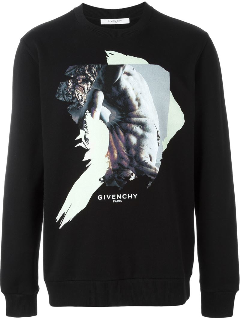 Black Print Men Sweatshirt For Lyst In Givenchy Abstract qBav77
