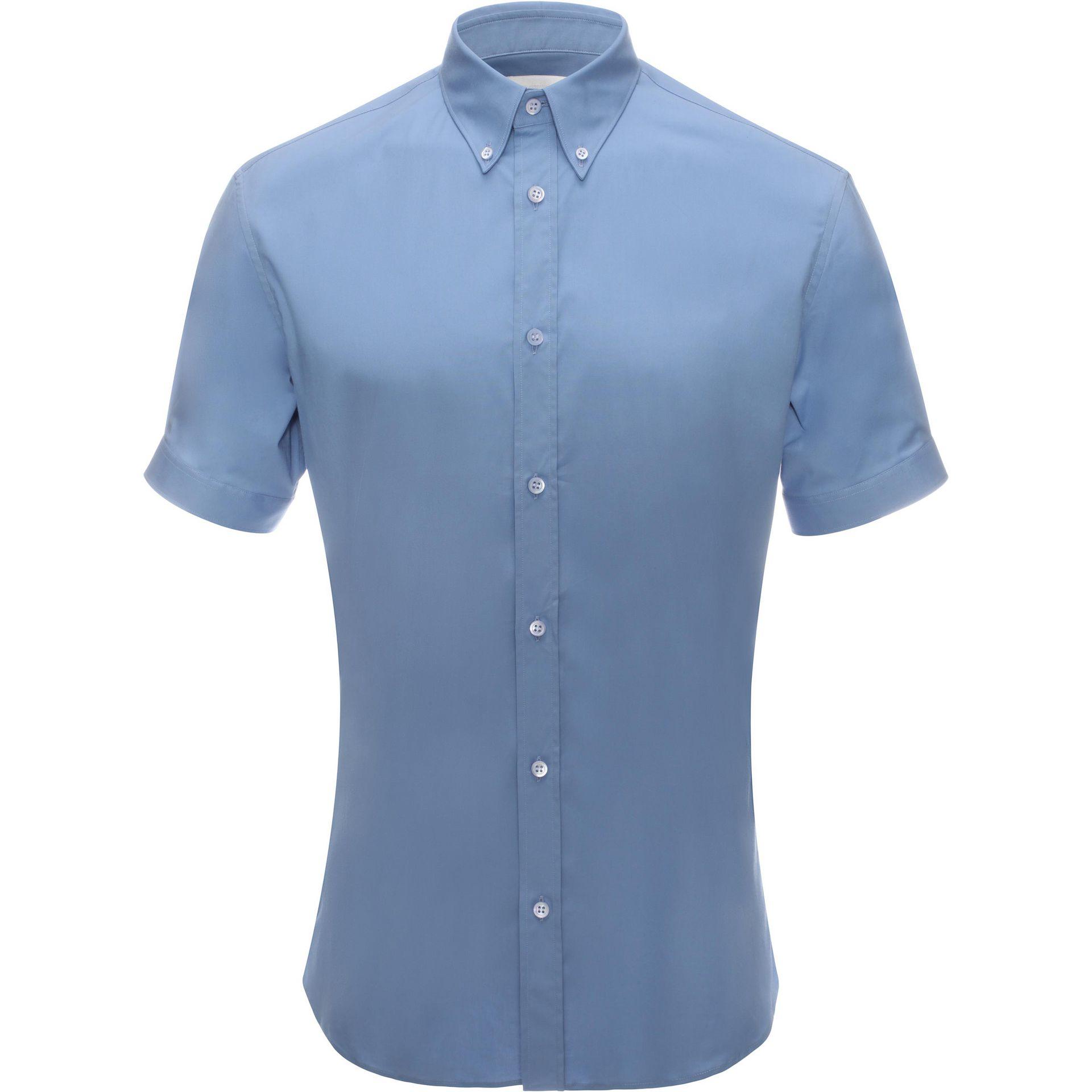 Alexander Mcqueen Cotton Wide Cuff Short Sleeve Shirt In