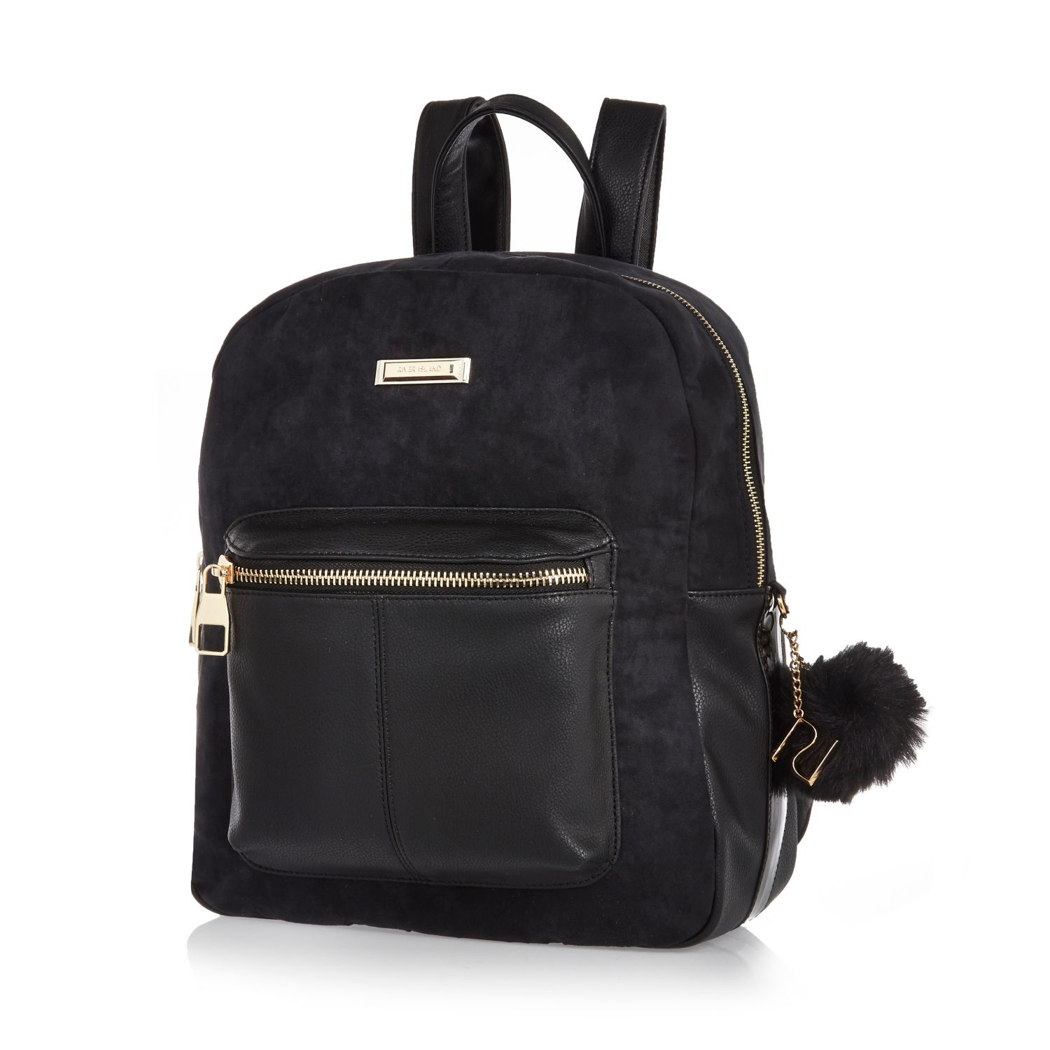 River Island Black Womens Backpack - CEAGESP 93c0921d30