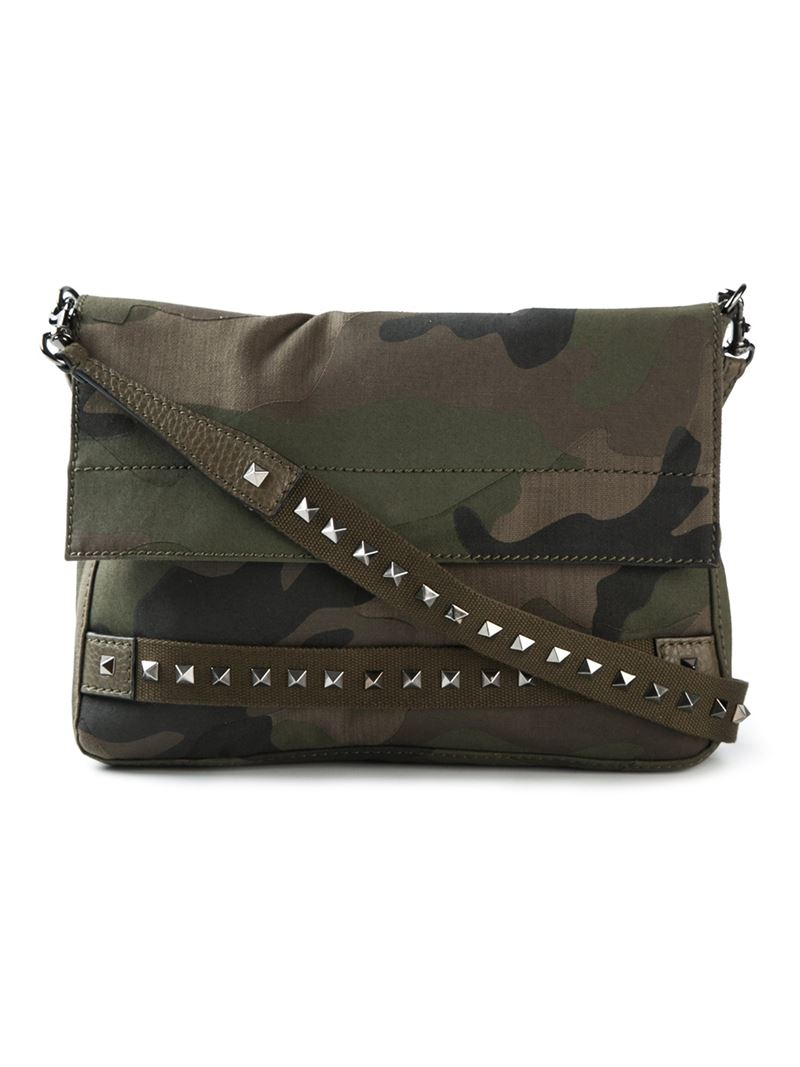 Valentino Camouflage Messenger Bag In Green For Men Lyst