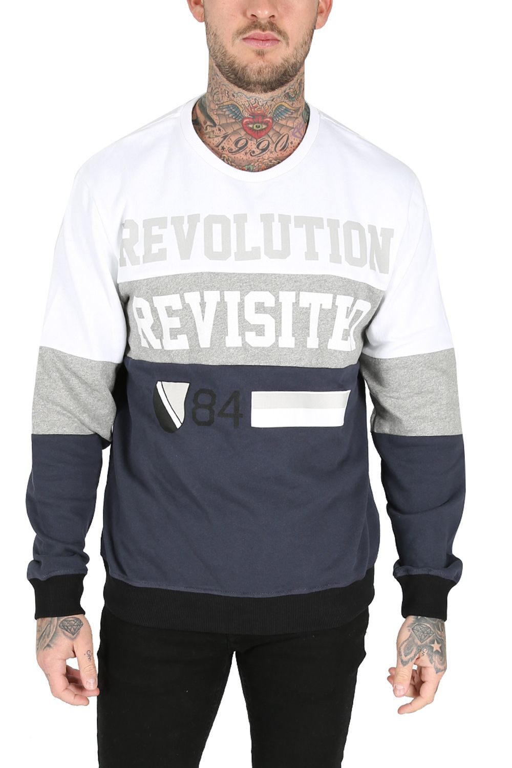 Damned Delux Revolution Revisited Fleece Sweatshirt in White for Men