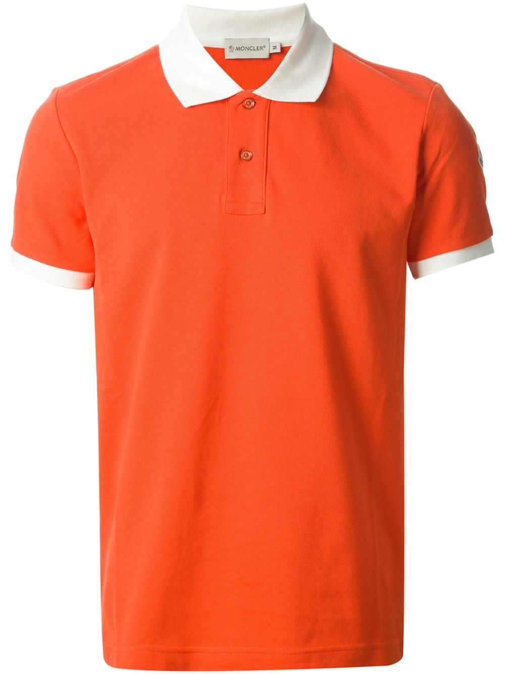 orange moncler shirt