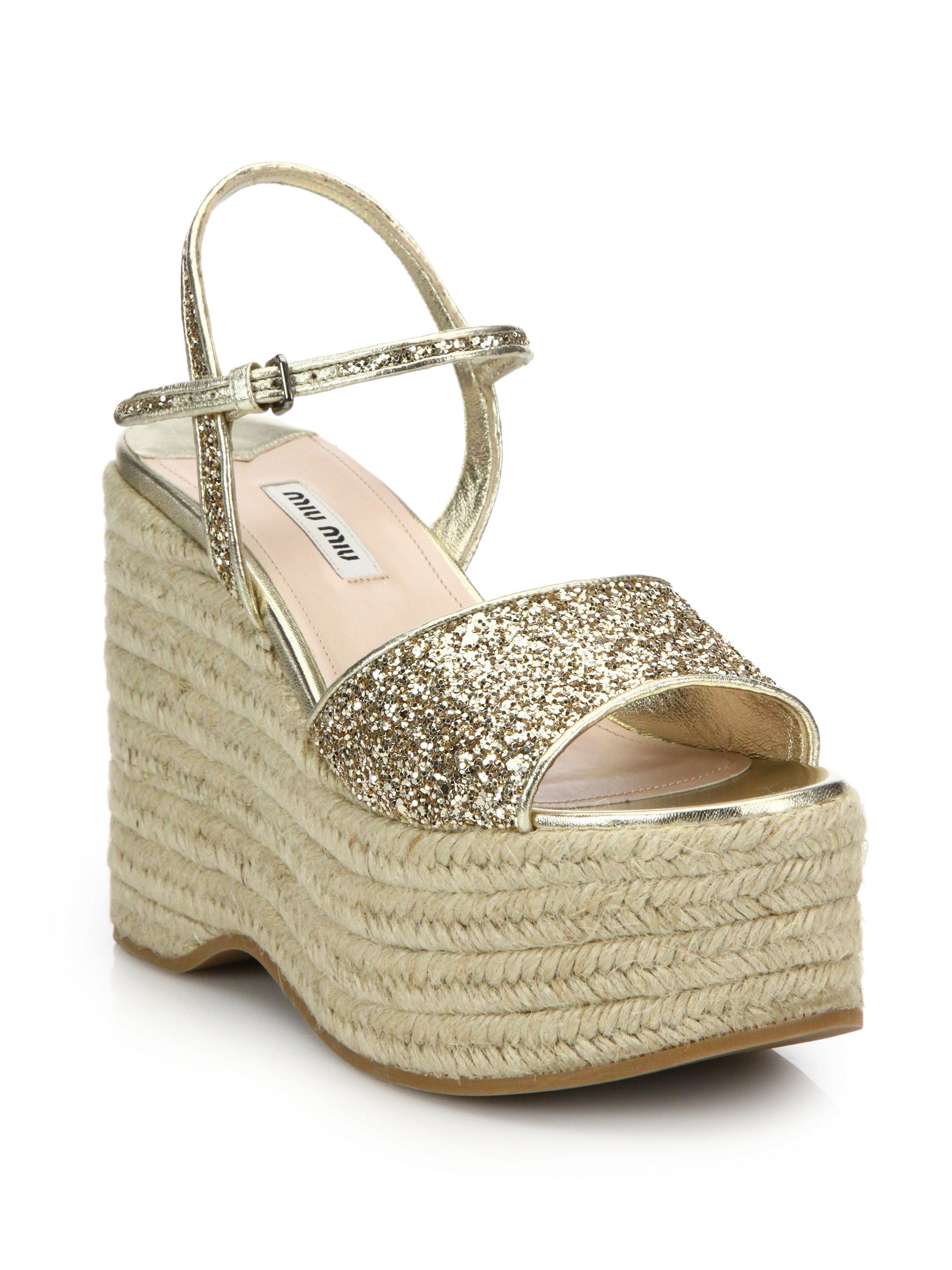 Miu Miu Leather Espadrille Sandals visit new cheap online discount 2014 unisex EmmLKn6caq
