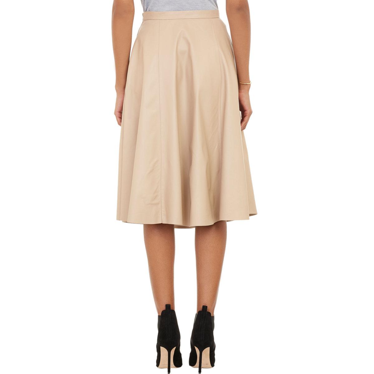 barneys new york x yasmin sewell leather circle skirt in