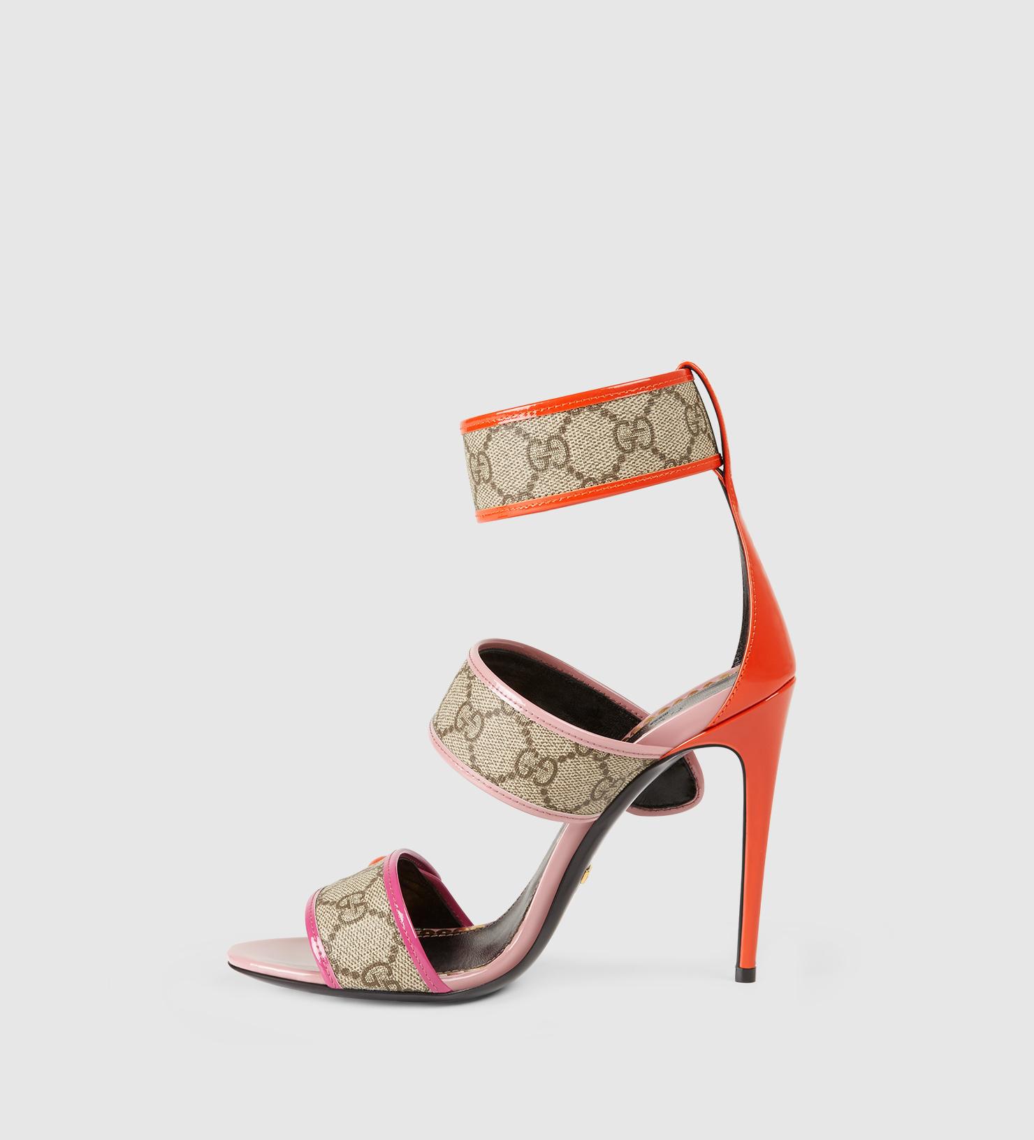4ec1e5544 Gucci Gg Supreme Sandal in Orange - Lyst
