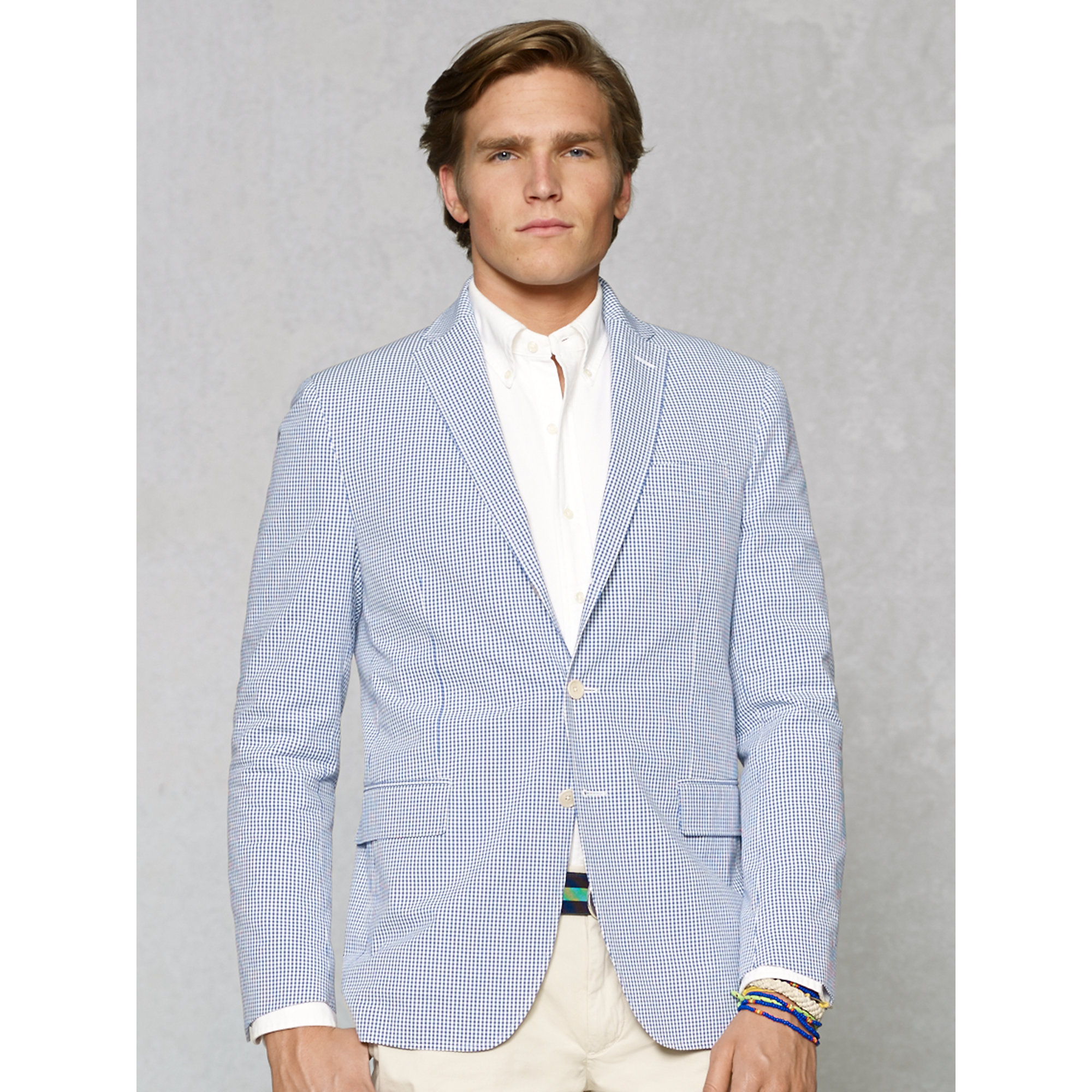 96ae8c54db Polo Ralph Lauren Blue Gilford Gingham Sport Coat for men