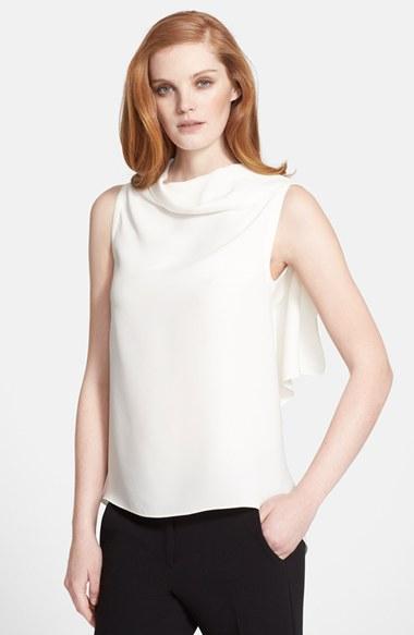 White Silk Sleeveless Blouse 4