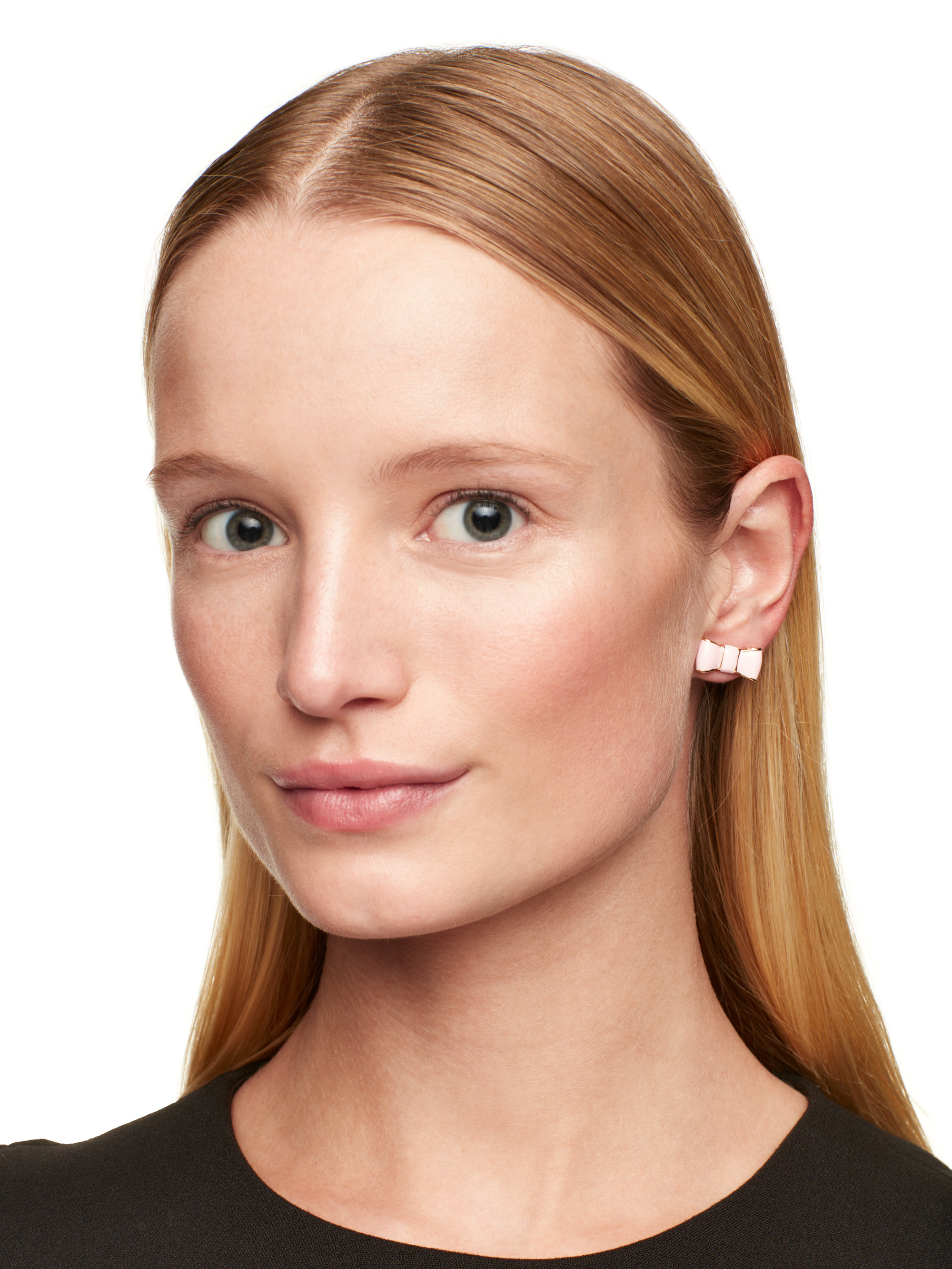 Kate Spade Take A Bow Studs In Pink Lyst