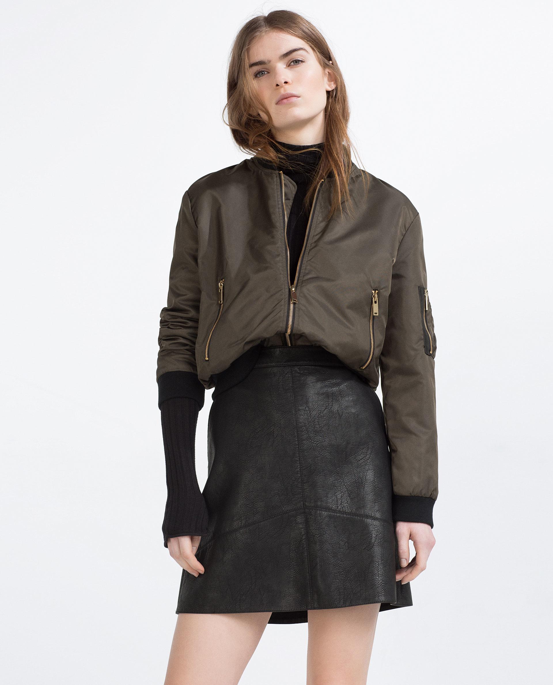 zara a line skirt in black lyst