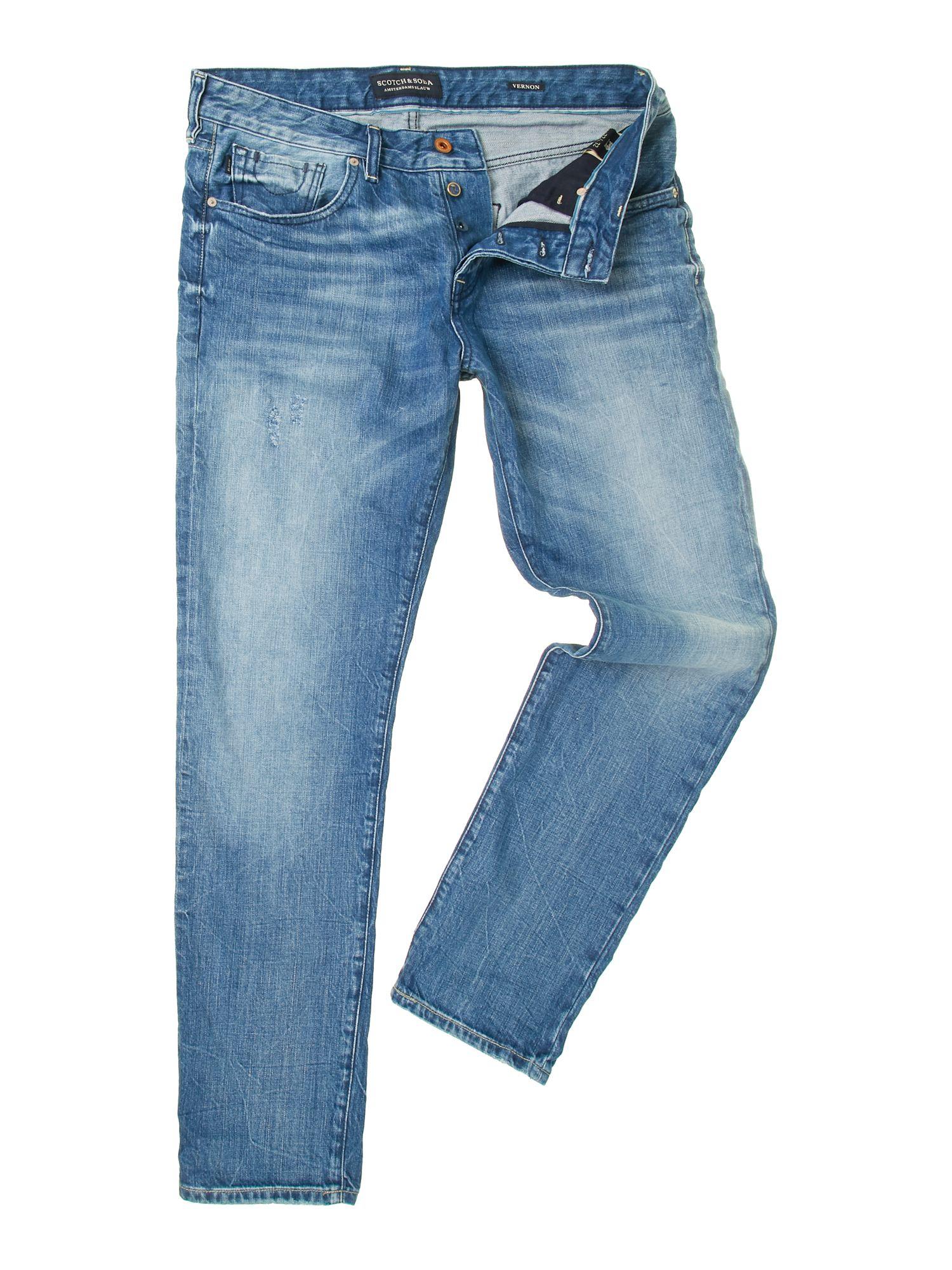 scotch soda vernon absolute light regular fit jeans in blue for men mid blue lyst. Black Bedroom Furniture Sets. Home Design Ideas