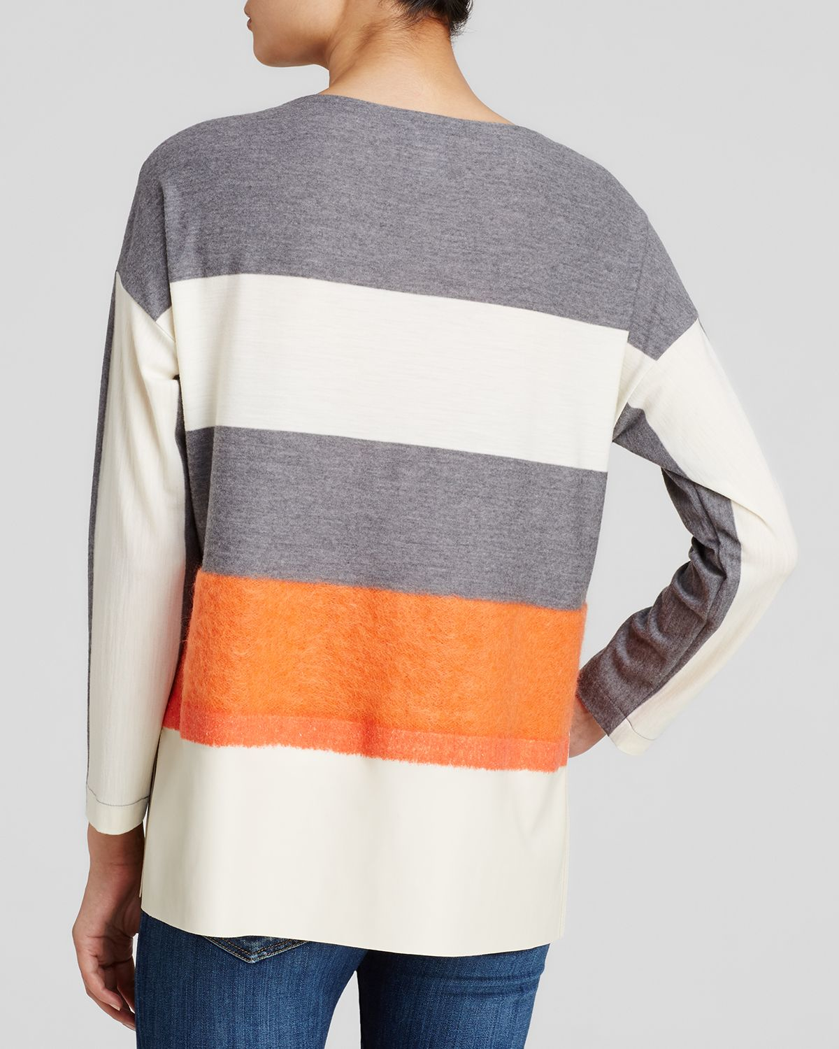 148 Best Images About Fingernail Art On Pinterest: Lafayette 148 New York Color Block Mixed Media Top In