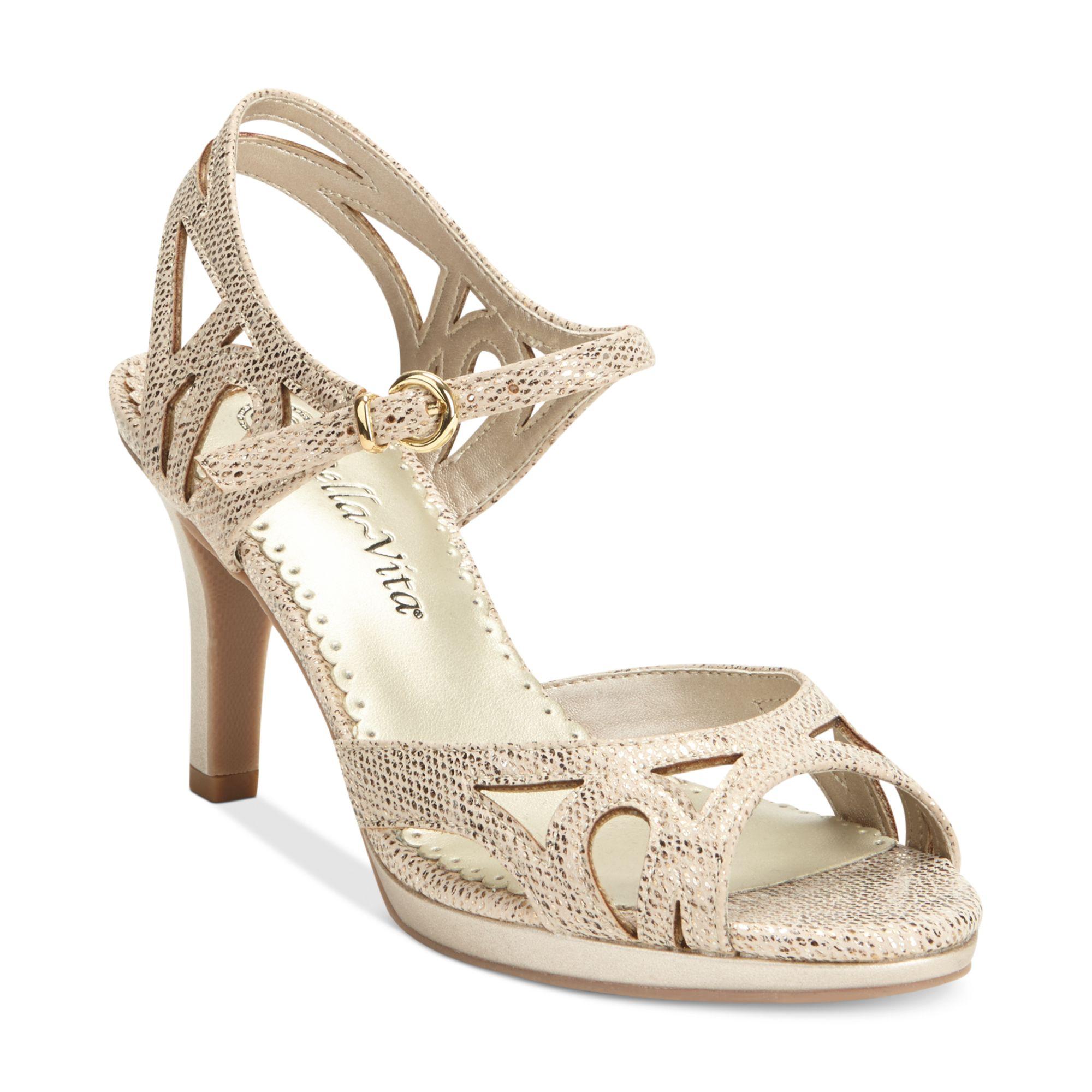 Bella vita claudette ii platform sandals lyst for The bella vita
