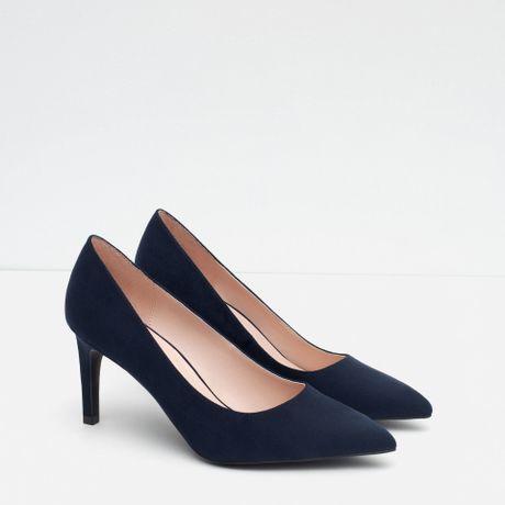 zara high heel court shoes high heel court shoes in blue