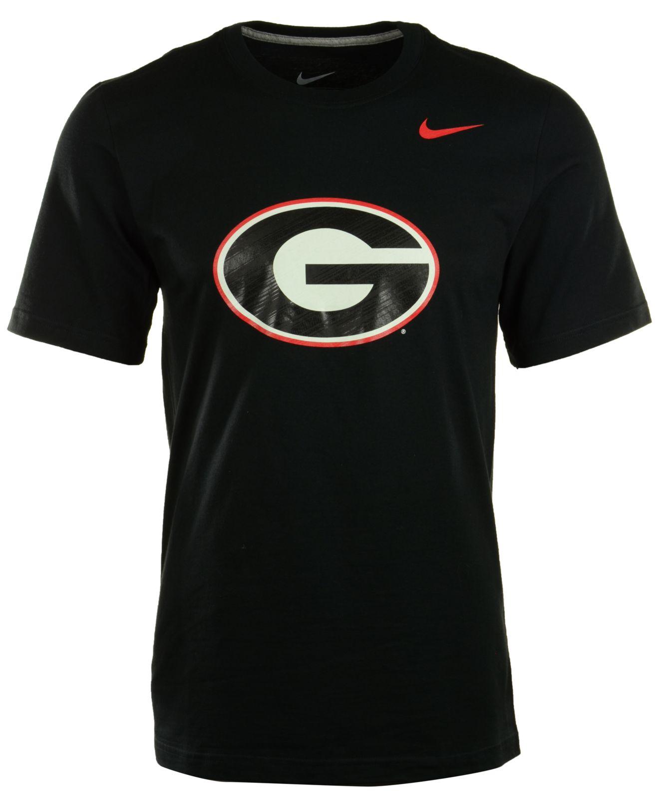 Nike Men 39 S Georgia Bulldogs Warp Logo T Shirt In Black For