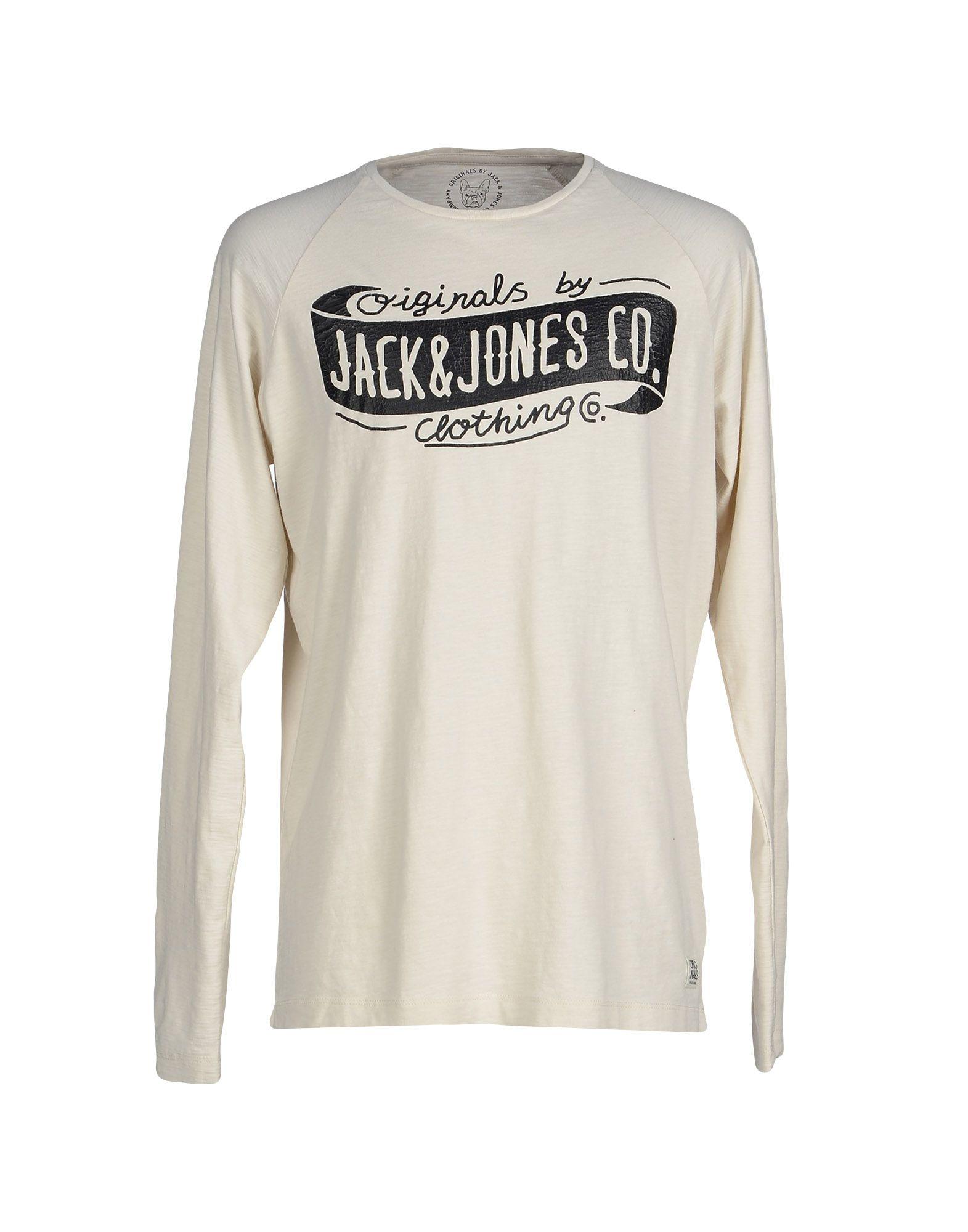 originals by jack jones t shirt in white for men lyst. Black Bedroom Furniture Sets. Home Design Ideas