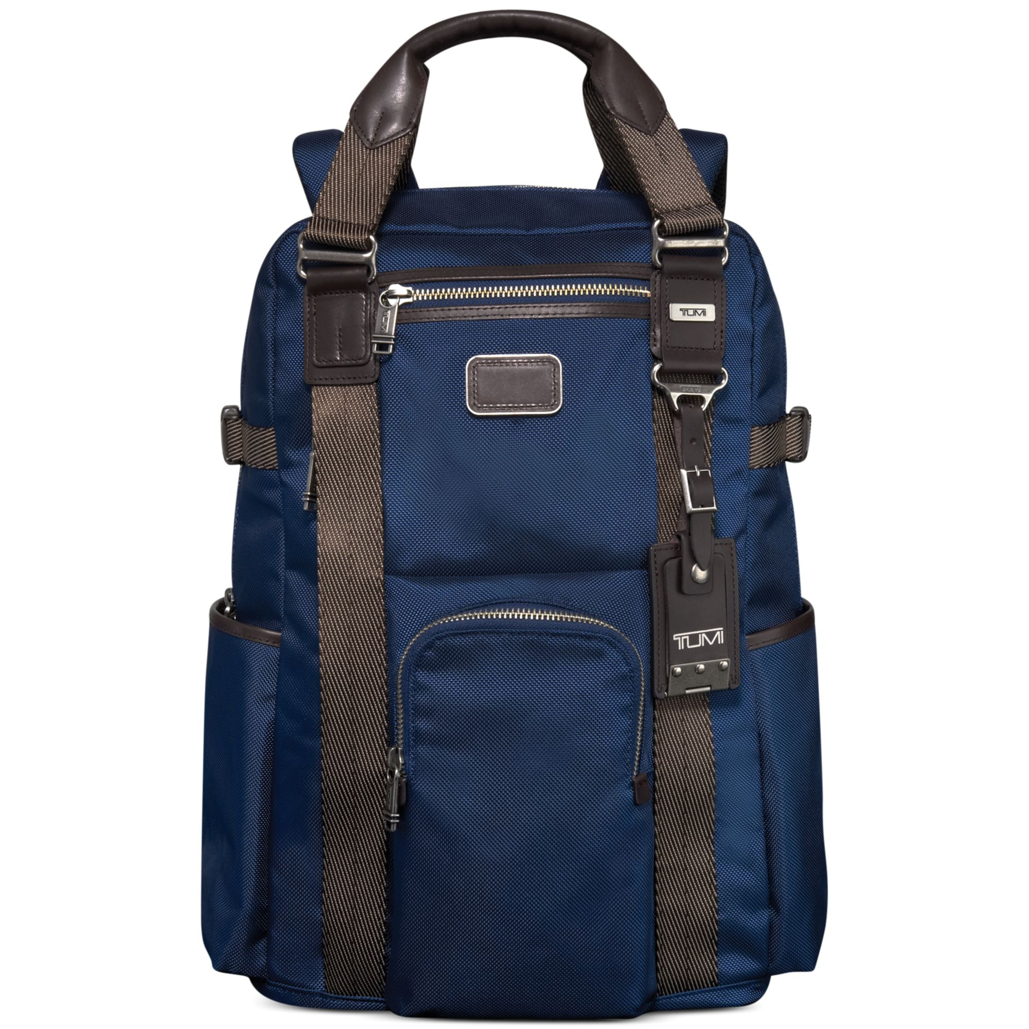 Tumi Alpha Bravo Lejeune Backpack Tote In Blue For Men