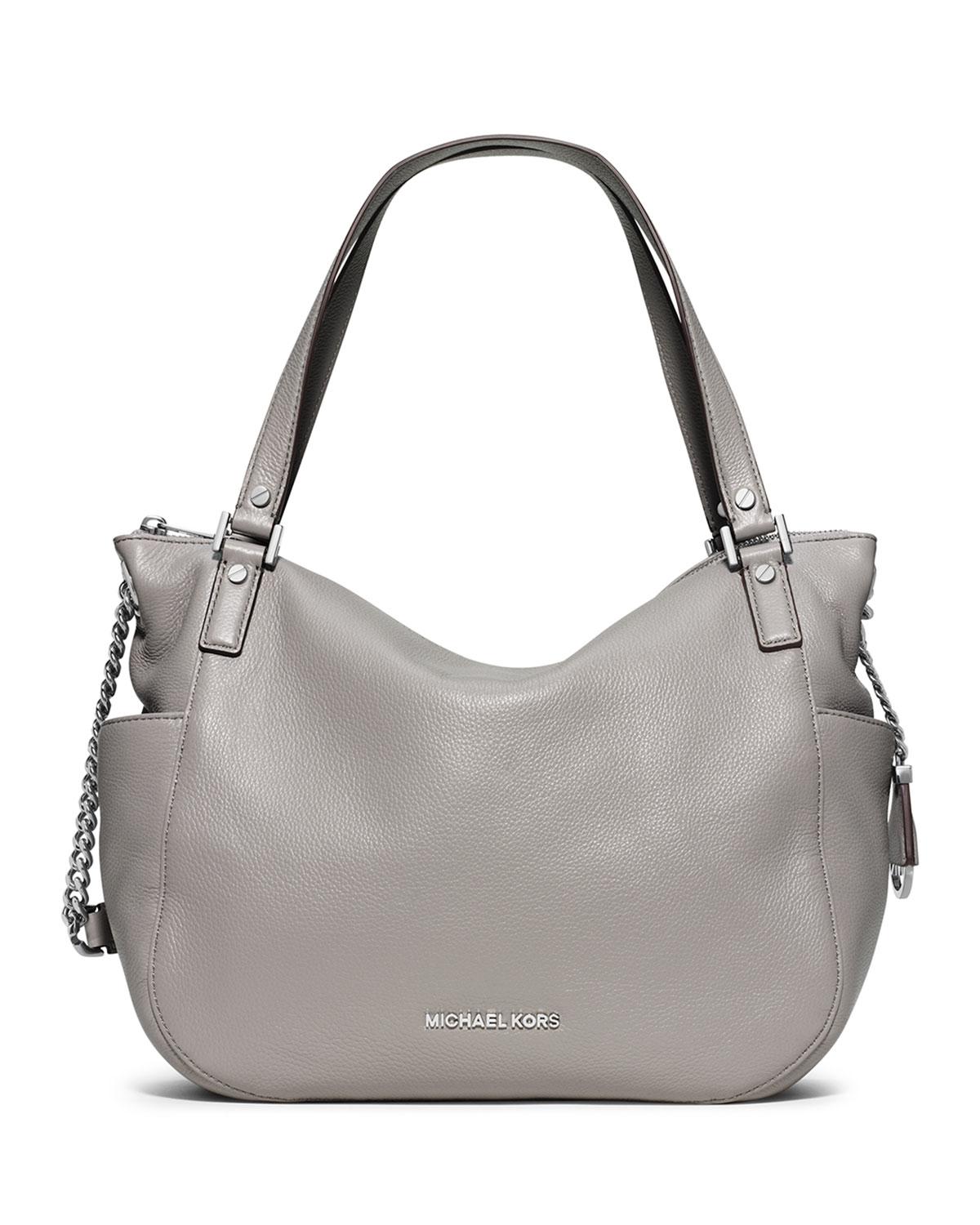 5aaf3b2602cf 453ff 801fb; denmark lyst michael michael kors chandler large leather  shoulder bag in gray ea3af 368d5