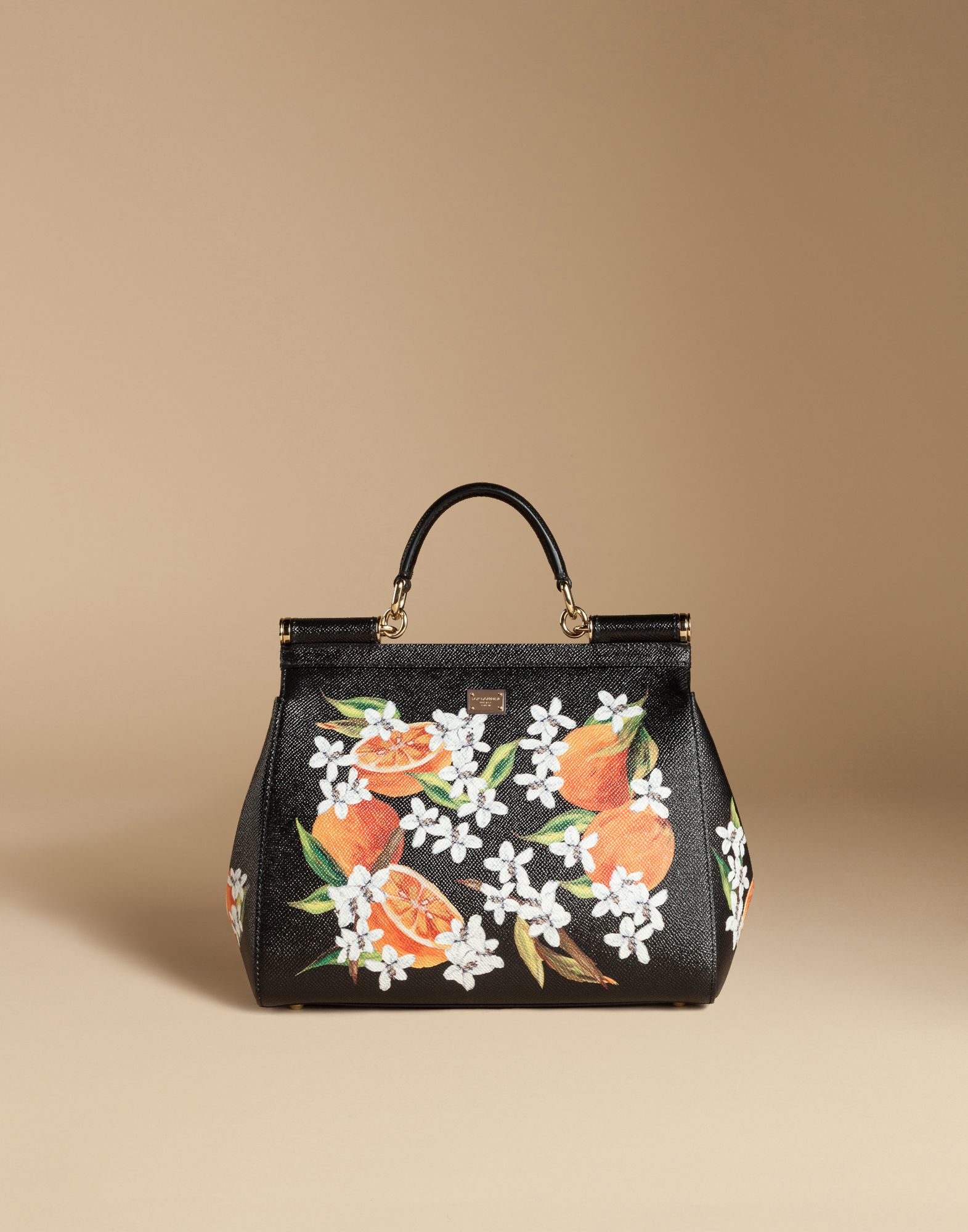 41b69899054a Lyst - Dolce   Gabbana Medium Sicily Bag In Printed Dauphine Leather ...