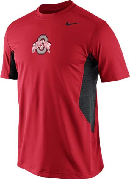 Nike men 39 s short sleeve ohio state buckeyes hypercool t for Ohio state shirts mens
