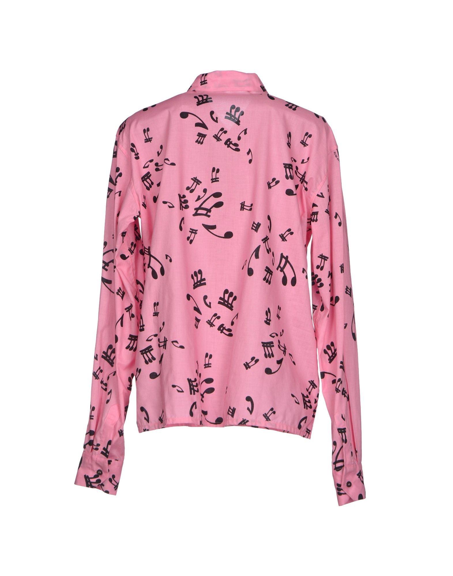 Miu miu shirt in pink lyst for Miu miu t shirt