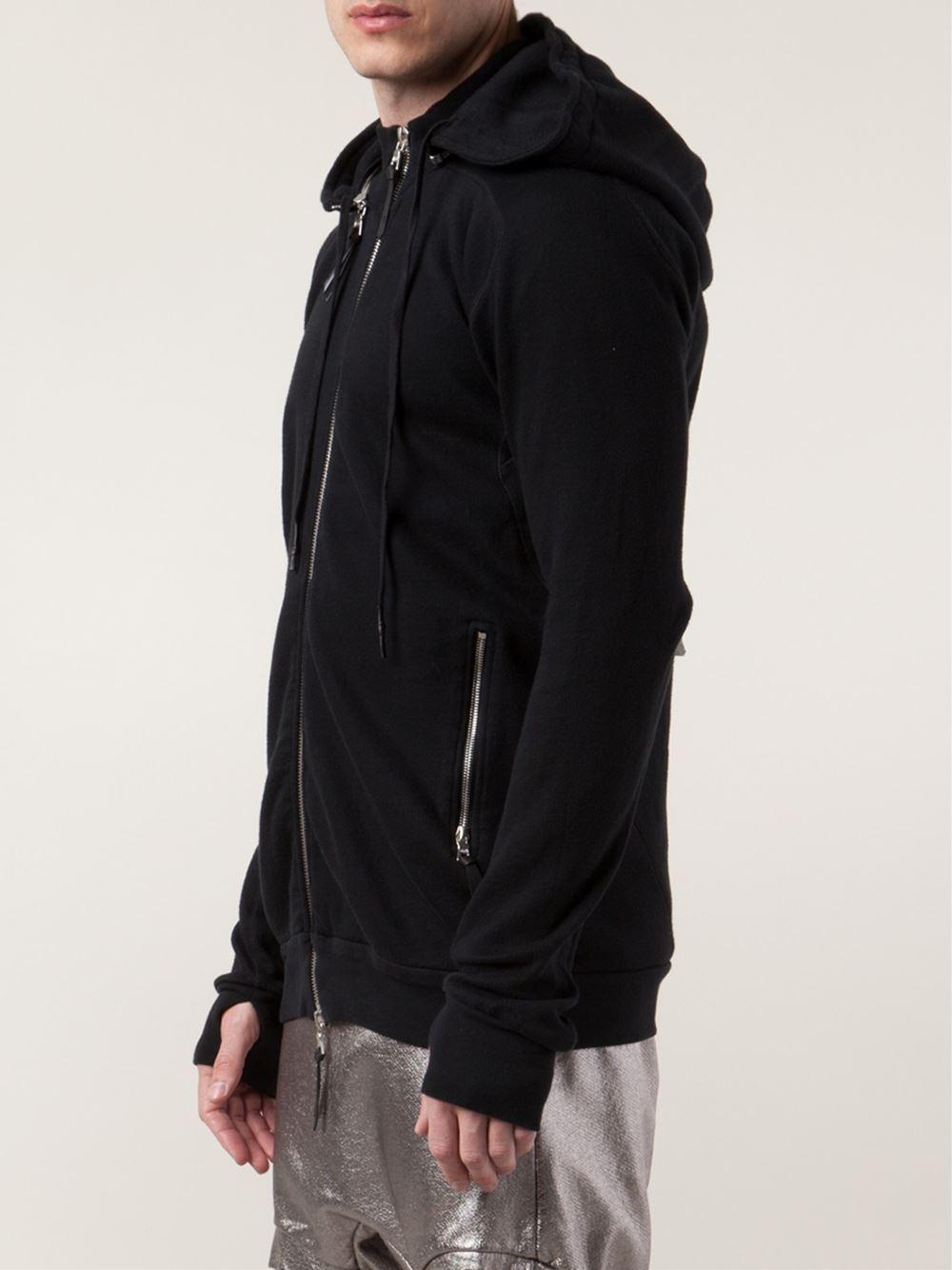 Boris Bidjan Saberi 11 Zipped Hoodie in Black for Men