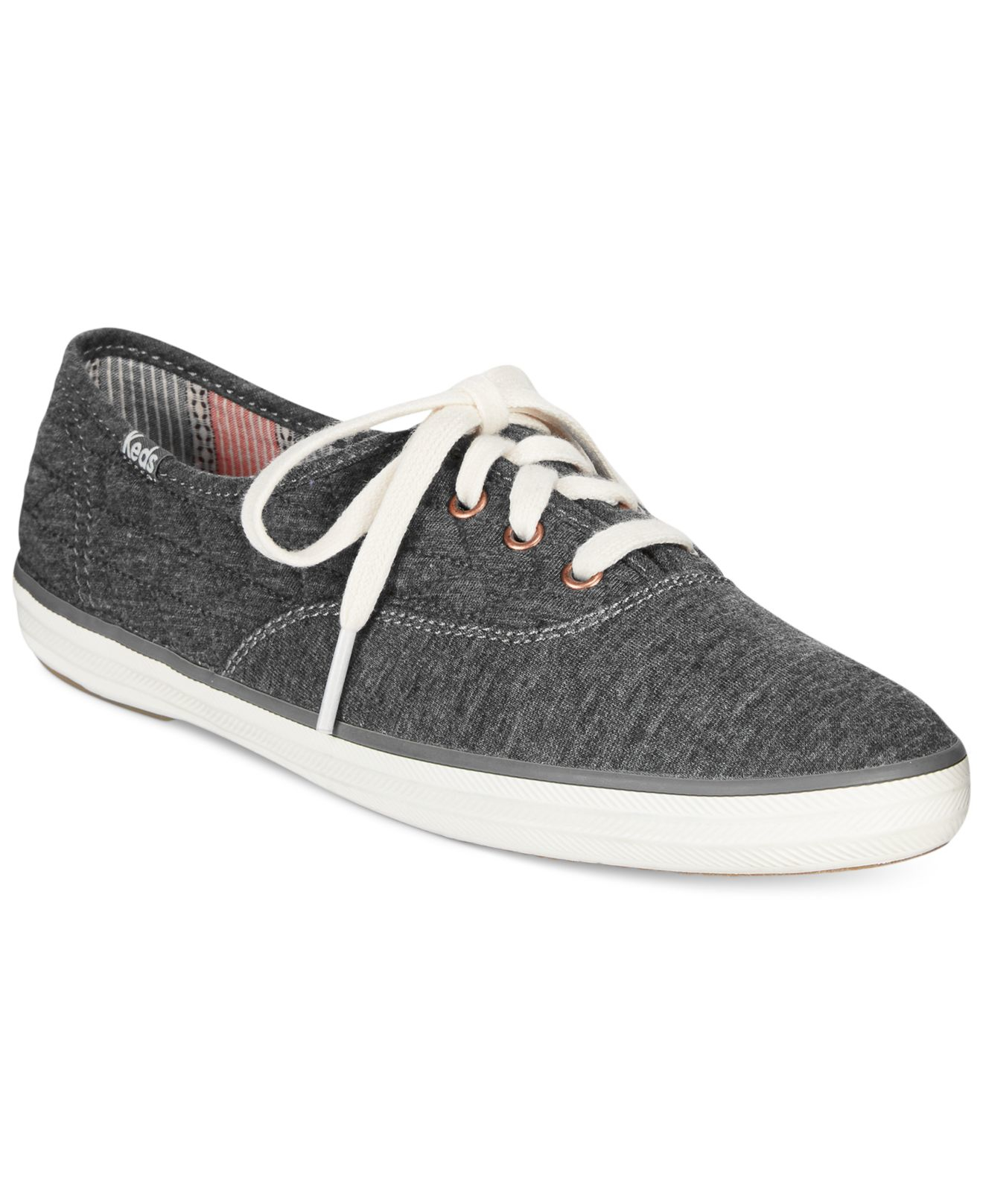 badb4942d8e5e Lyst - Keds Women s Quilted Jersey Champion Sneakers in Gray