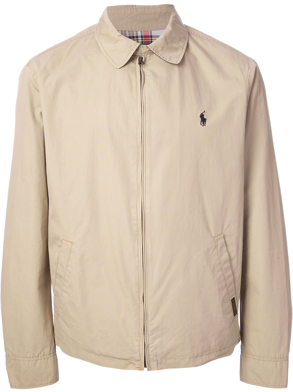 Polo Ralph Lauren Classic Harrington Jacket In Natural For