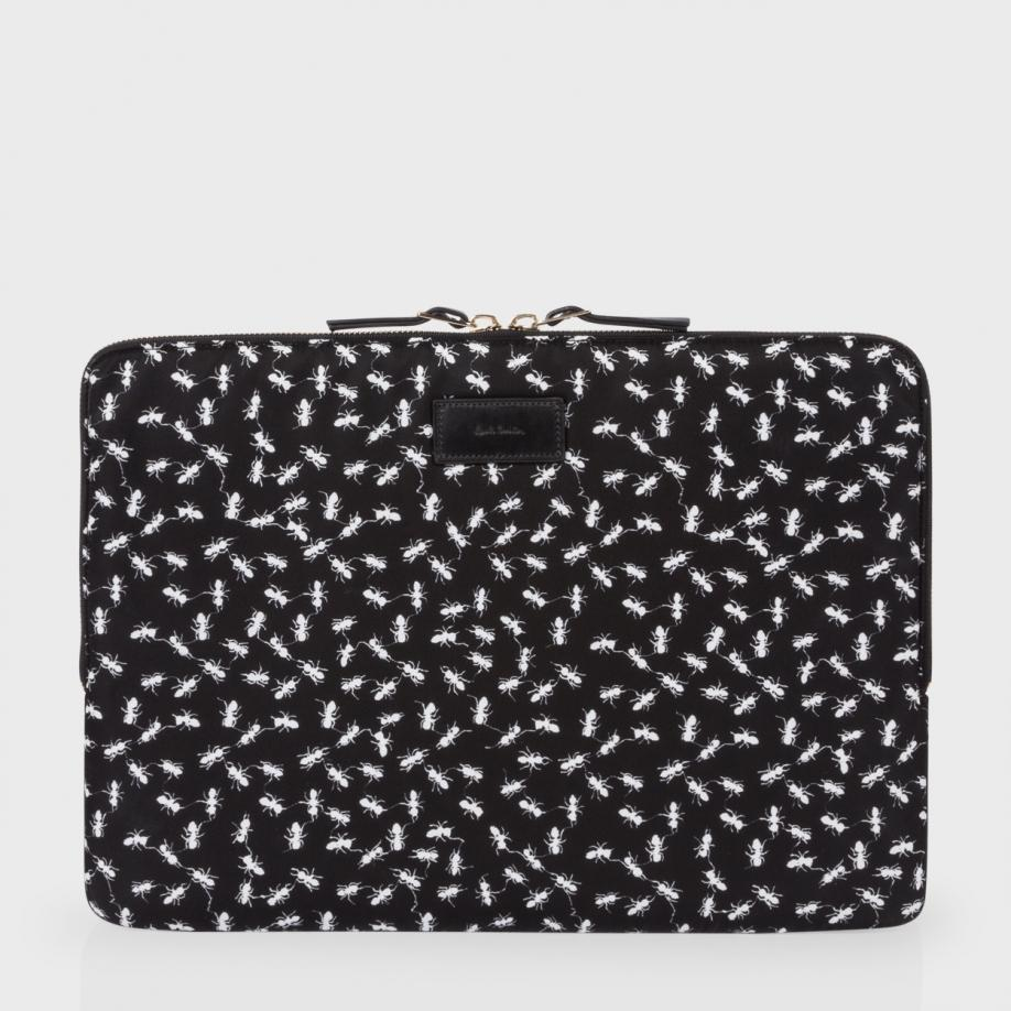 paul smith black ant print laptop case in black lyst. Black Bedroom Furniture Sets. Home Design Ideas