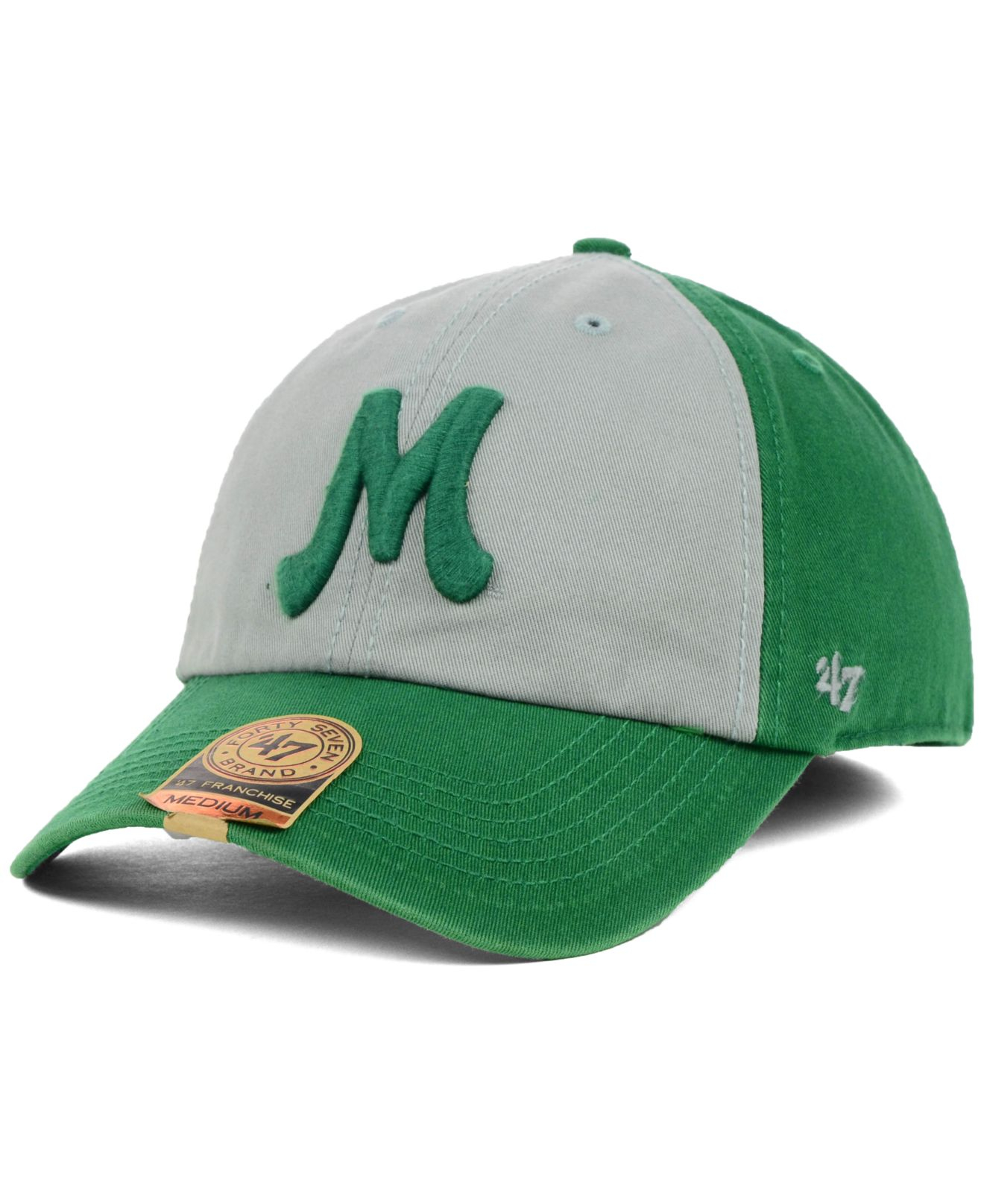 buy online db888 bb9df 47 Brand Marshall Thundering Herd Vip Franchise Cap in Green for Men ...