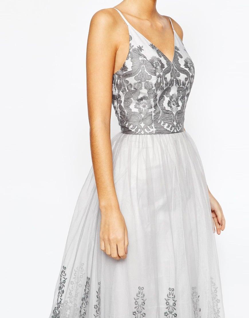 Lyst Chi Chi London Cami Strap Premium Lace Maxi Tulle