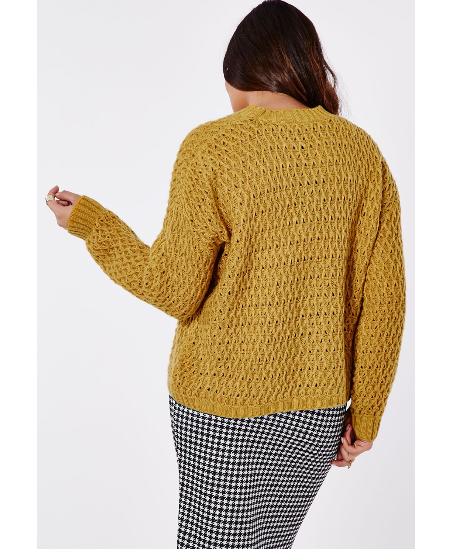 c157c5ef486 Lyst - Missguided Plus Size Chunky Knit Jumper Mustard in Natural