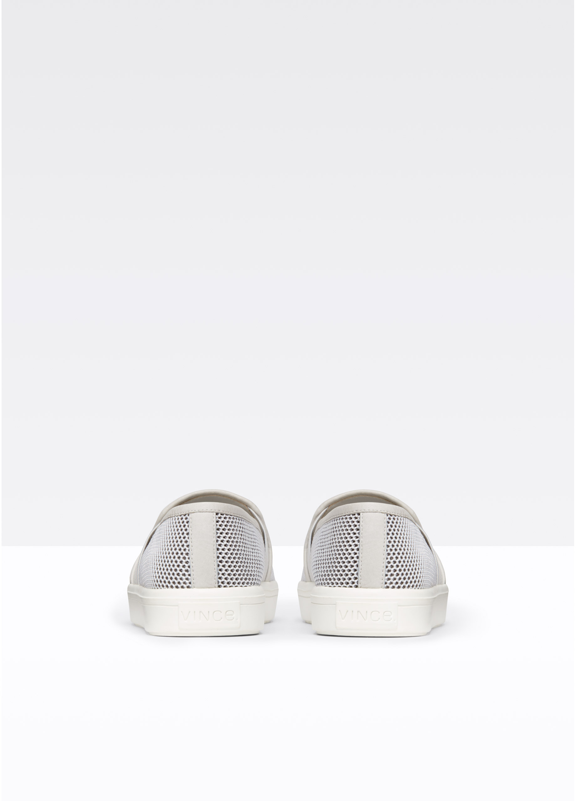 Vince Preston Mesh Sneaker With Leather Trim in Light Heather Grey Oyster (Grey)