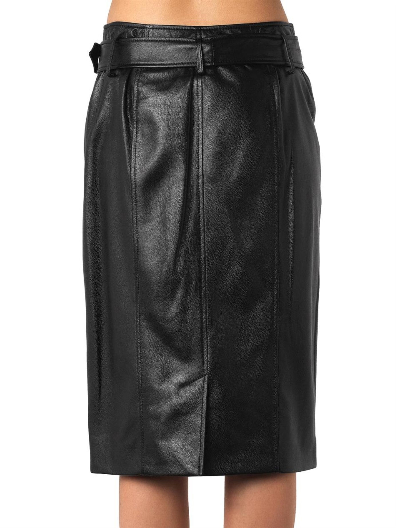 jason wu zip front leather pencil skirt in black lyst