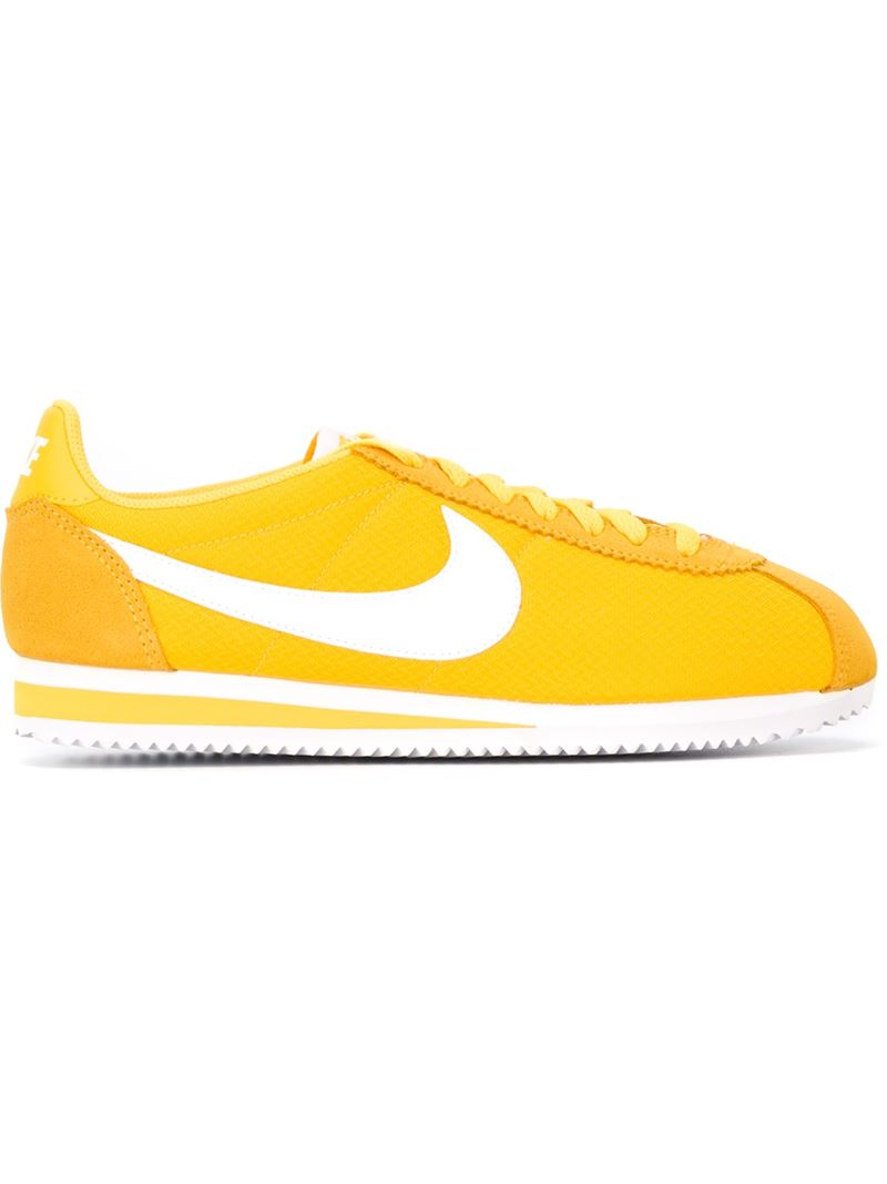 757a4cb93405 ... germany lyst nike classic cortez 15 nylon sneakers in yellow 3709d fc8f2