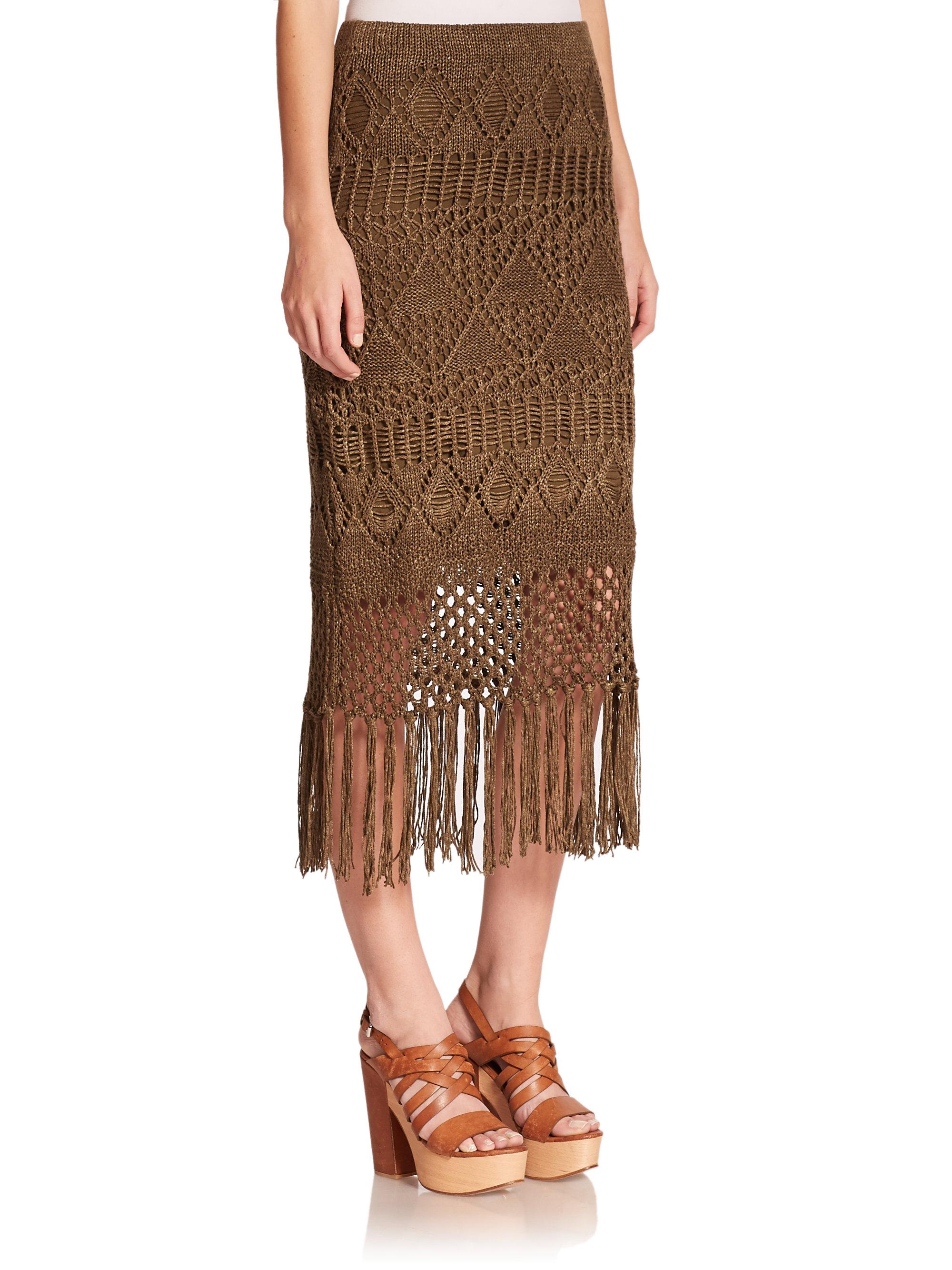 Fringed Polo Linen Natural Ralph Lauren Skirt uOiPkXZT