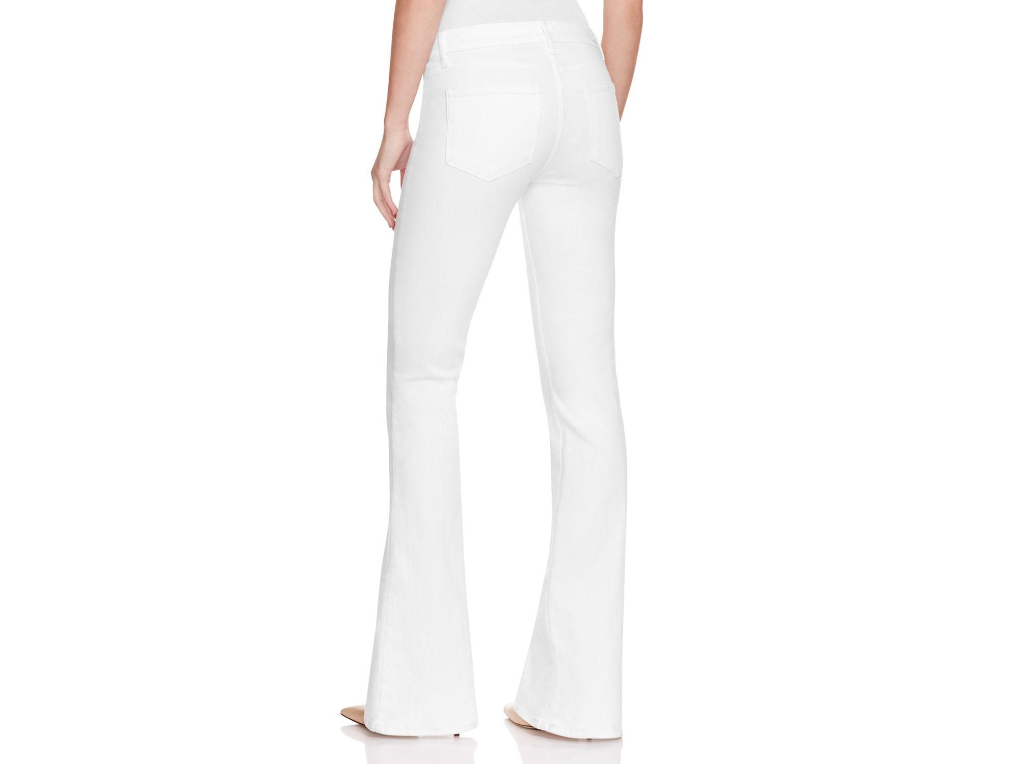 Paige Denim Lou Lou Flare Jeans In Ultra White in White | Lyst
