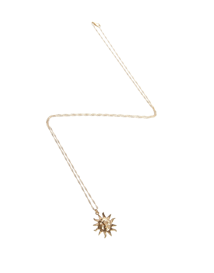 basikglam golden starburst pendant sun products necklace