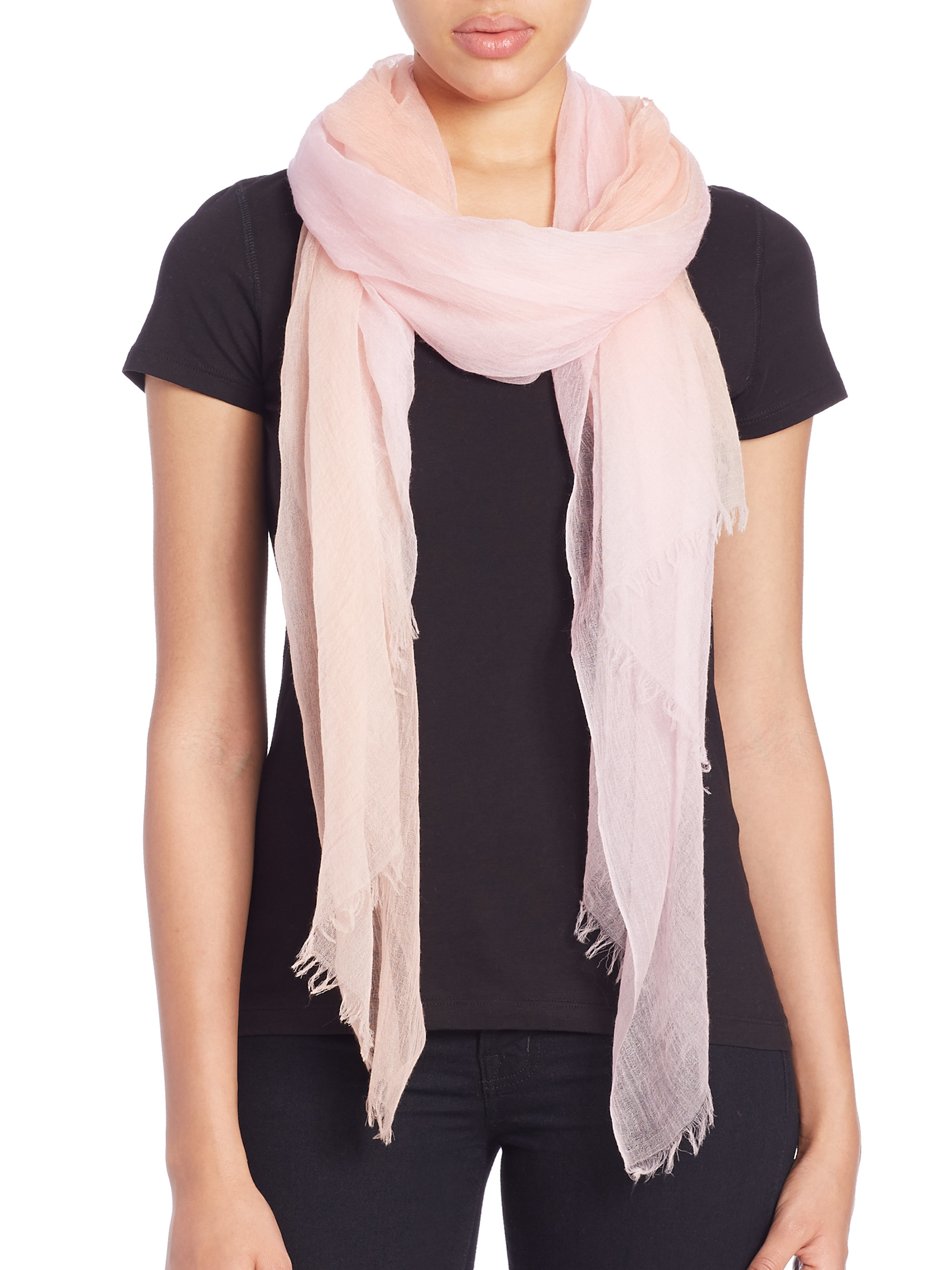tilo gradation scarf in pink lyst