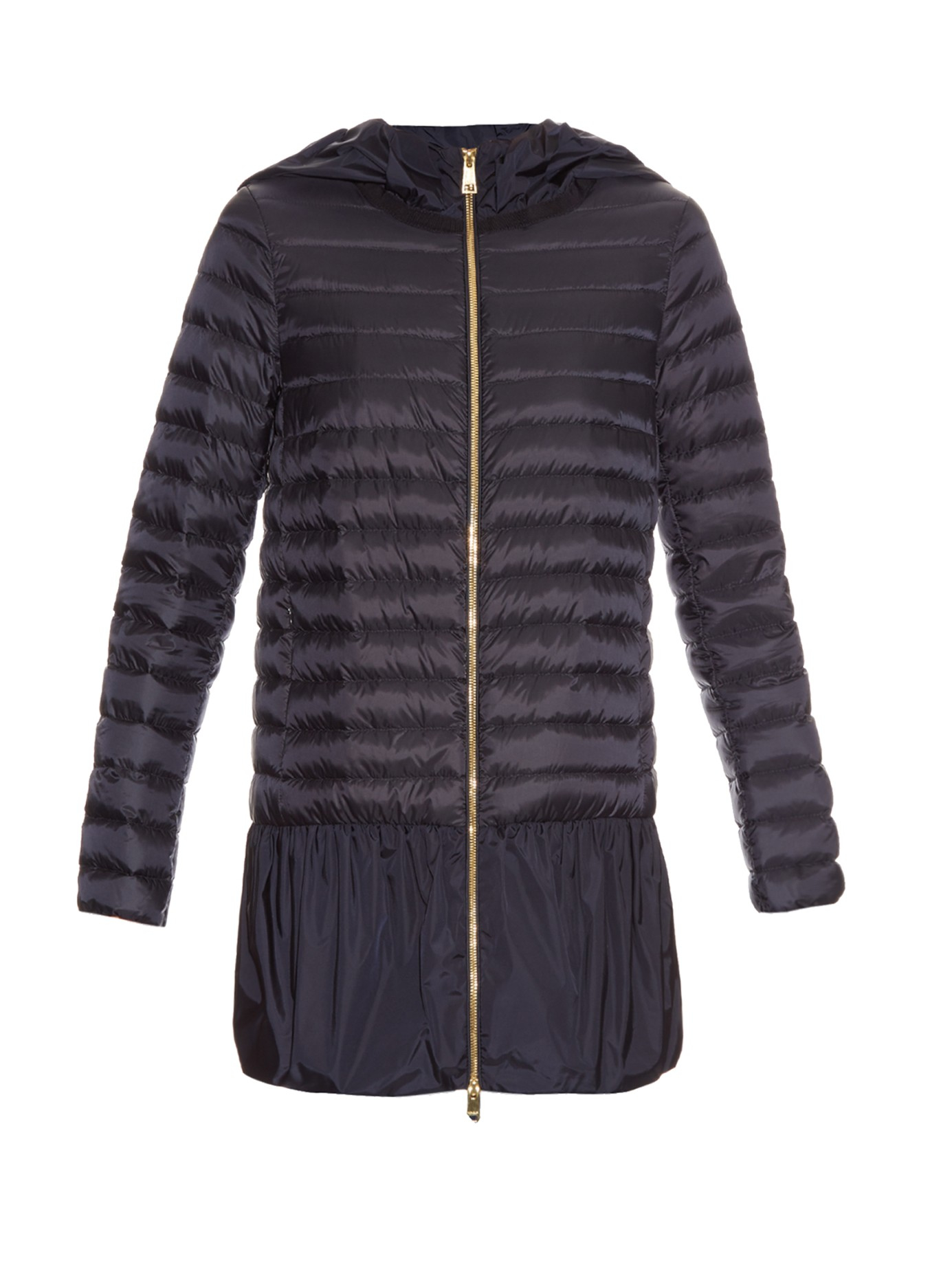 Moncler Dragonnet Quilted Down Coat in Black | Lyst