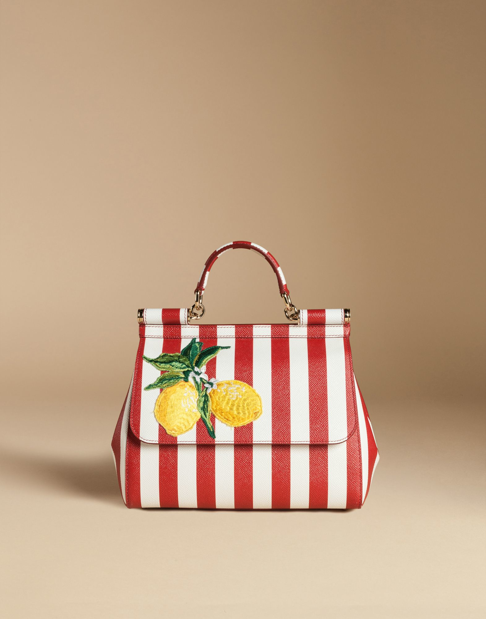 5b2fc5f98fe6 Lyst - Dolce   Gabbana Medium Sicily Bag In Printed Dauphine Leather ...
