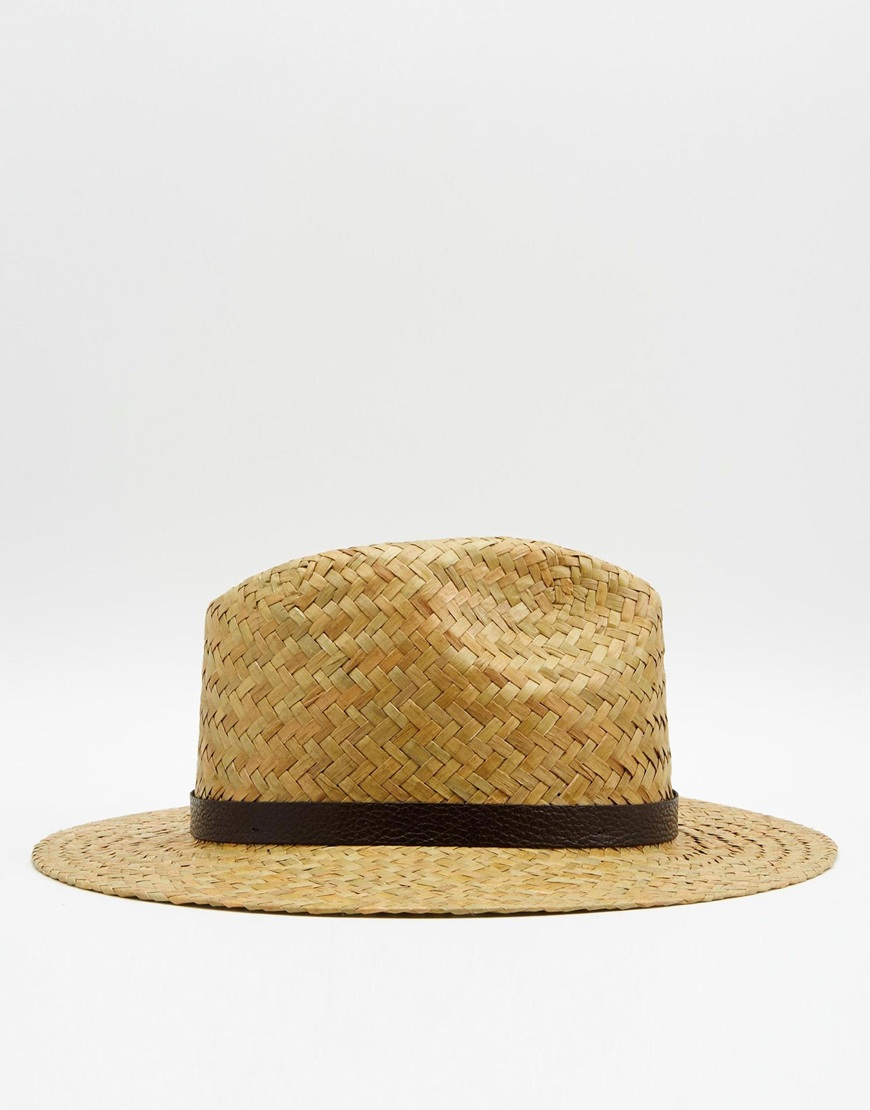 Catarzi Fedora Wide Brim Straw Hat Natural Men Lyst