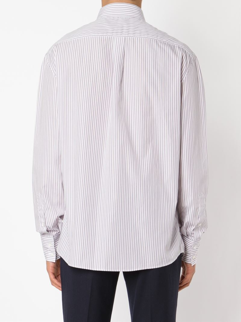 Lyst brunello cucinelli button down collar shirt in for White shirt with collar pin
