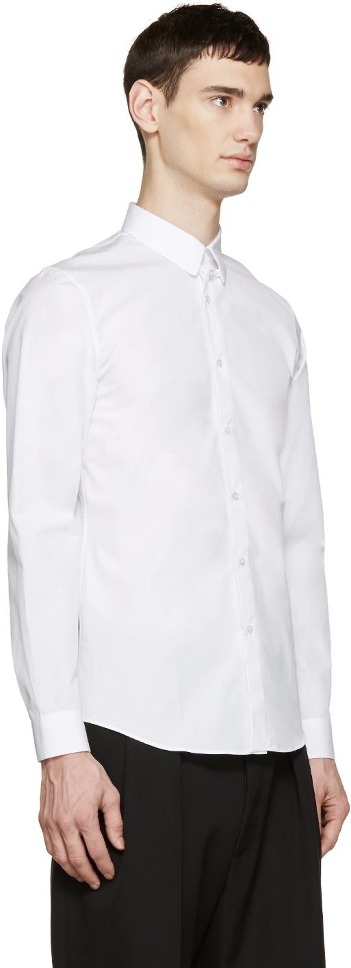 Jil sander white poplin shirt in white for men lyst for Jil sander mens shirt