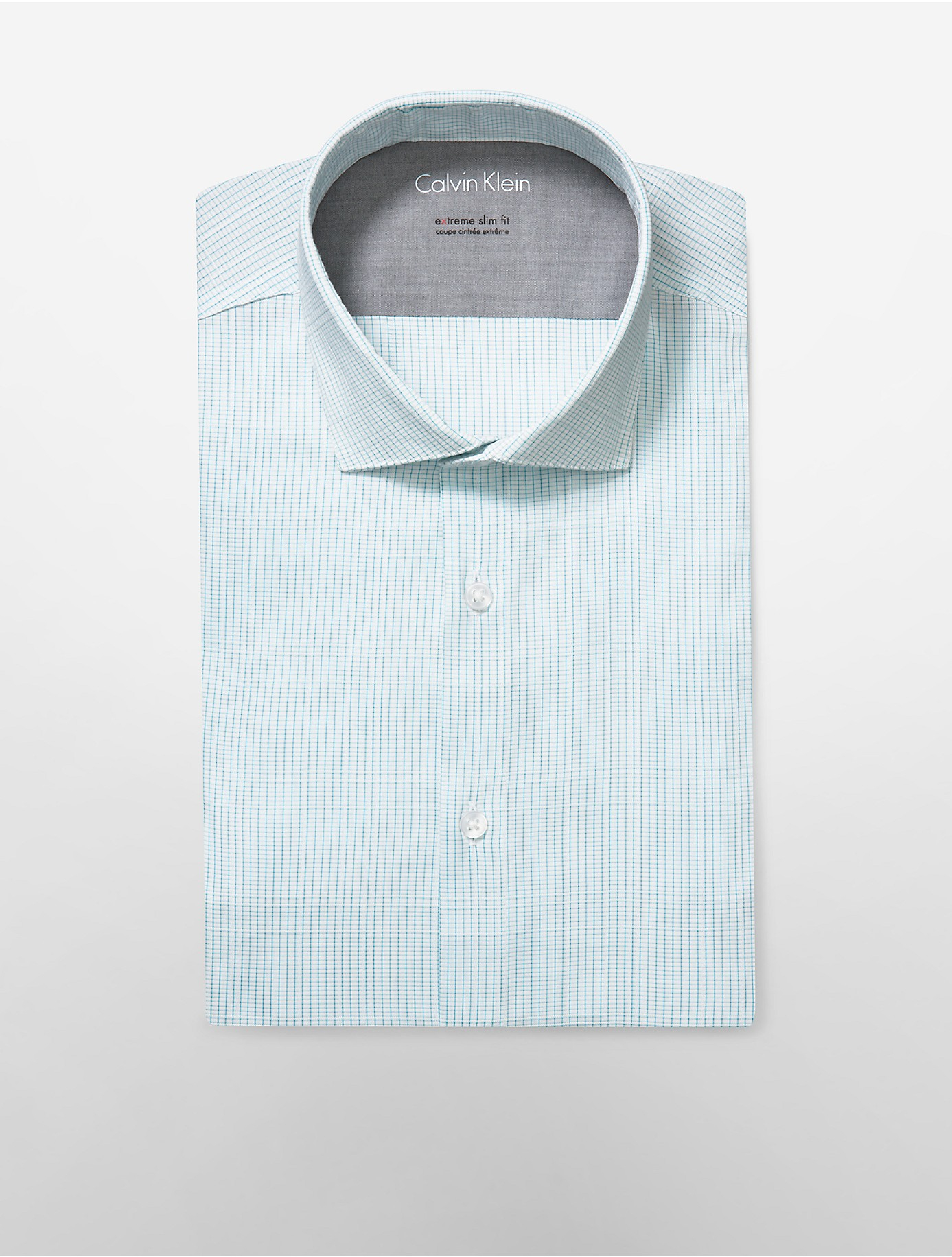 Lyst calvin klein white label x fit ultra slim fit mini for Calvin klein x fit dress shirt