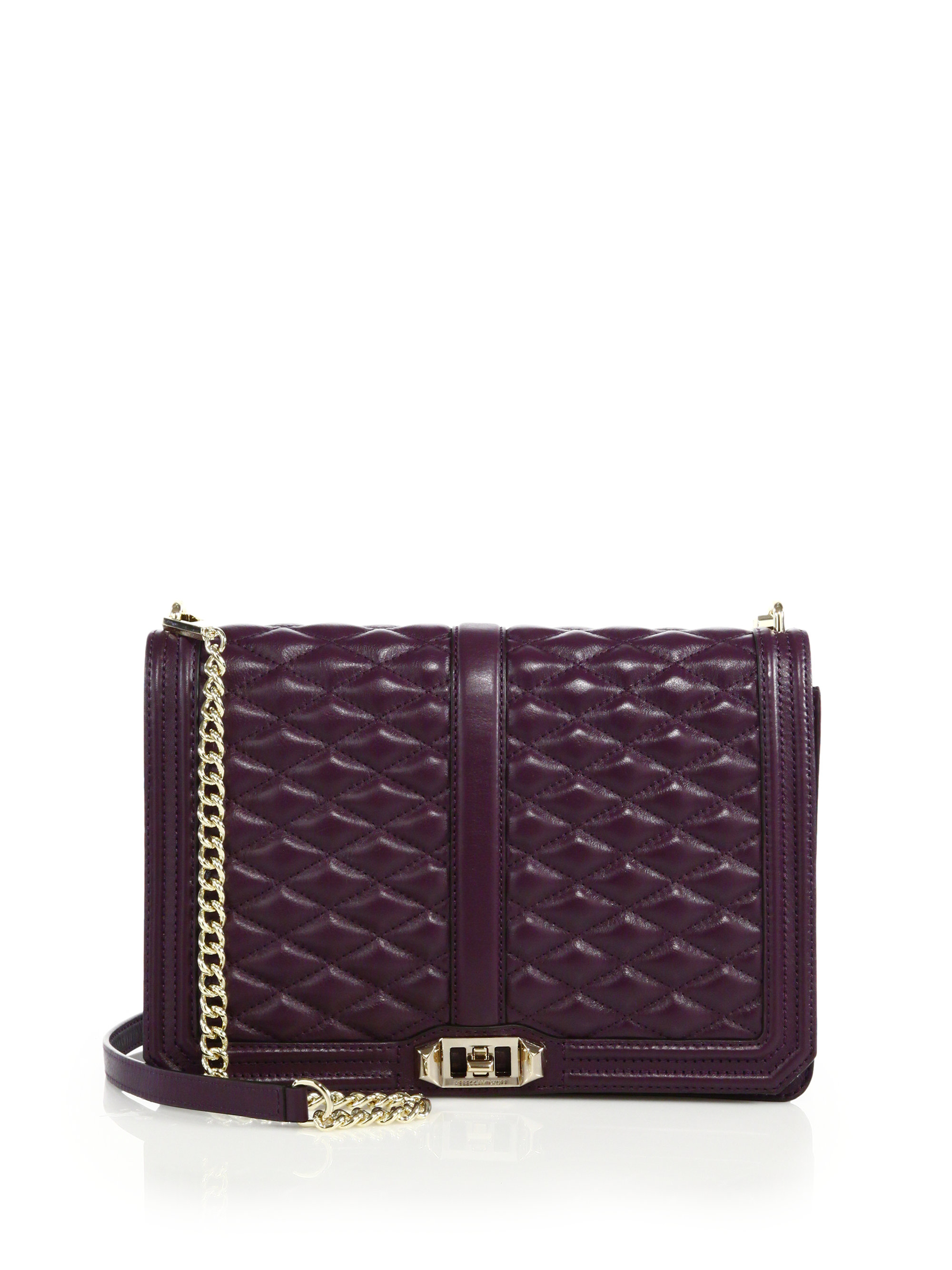 Lyst Rebecca Minkoff Quilted Love Jumbo Leather